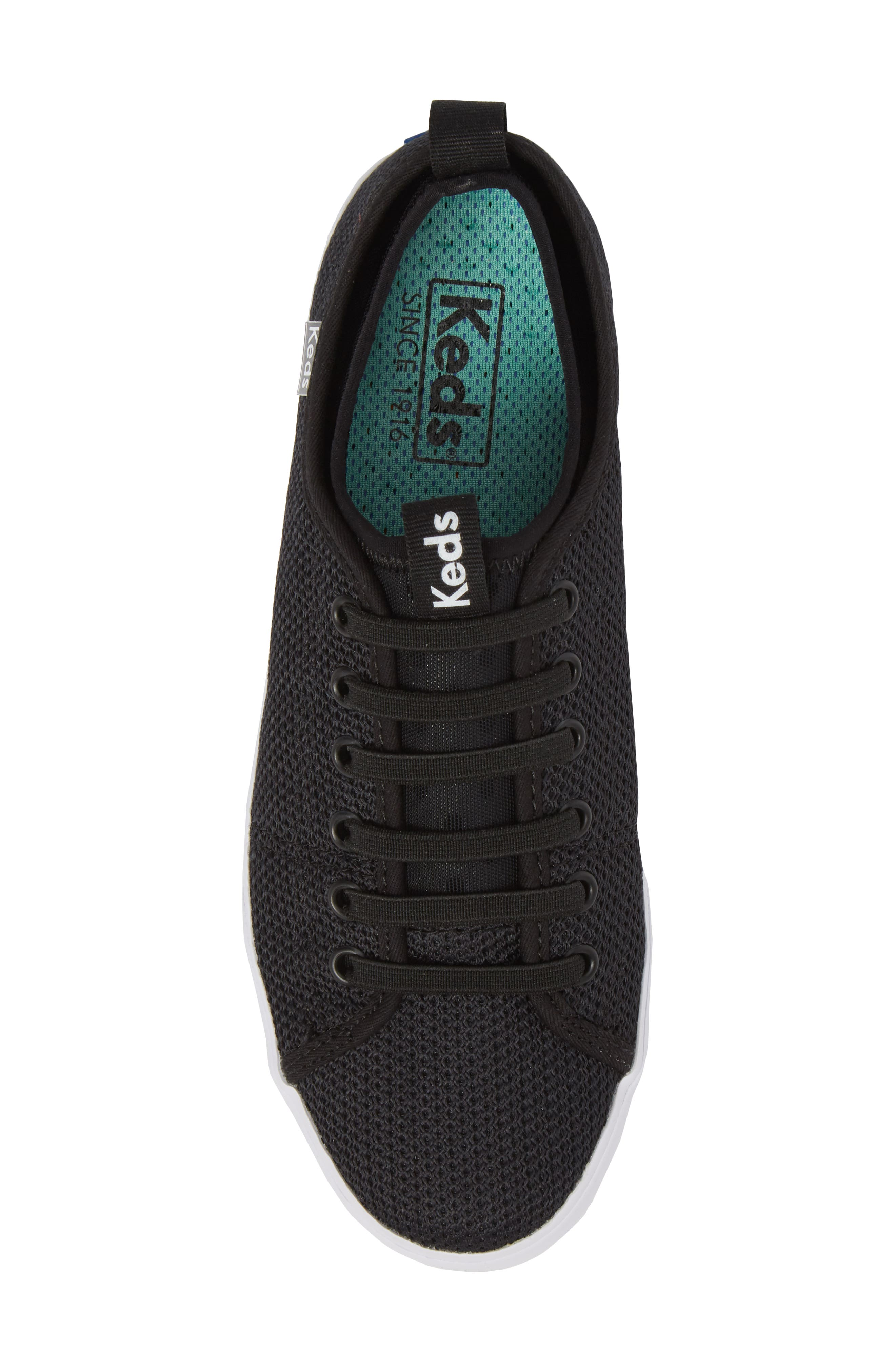 Driftkick Heathered Mesh Sneaker,                             Alternate thumbnail 5, color,                             Black