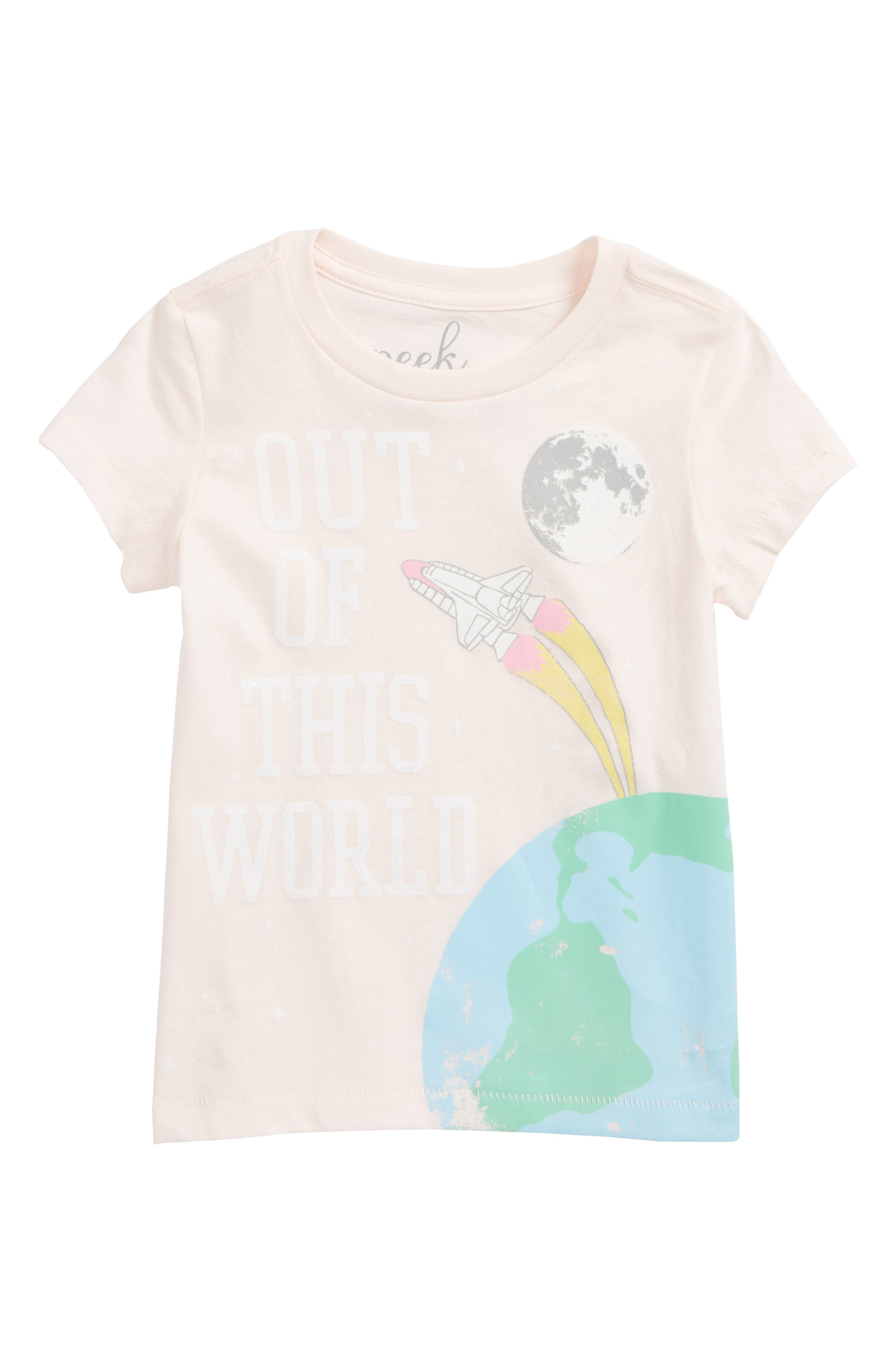Out of This World Graphic Tee,                         Main,                         color, Light Pink
