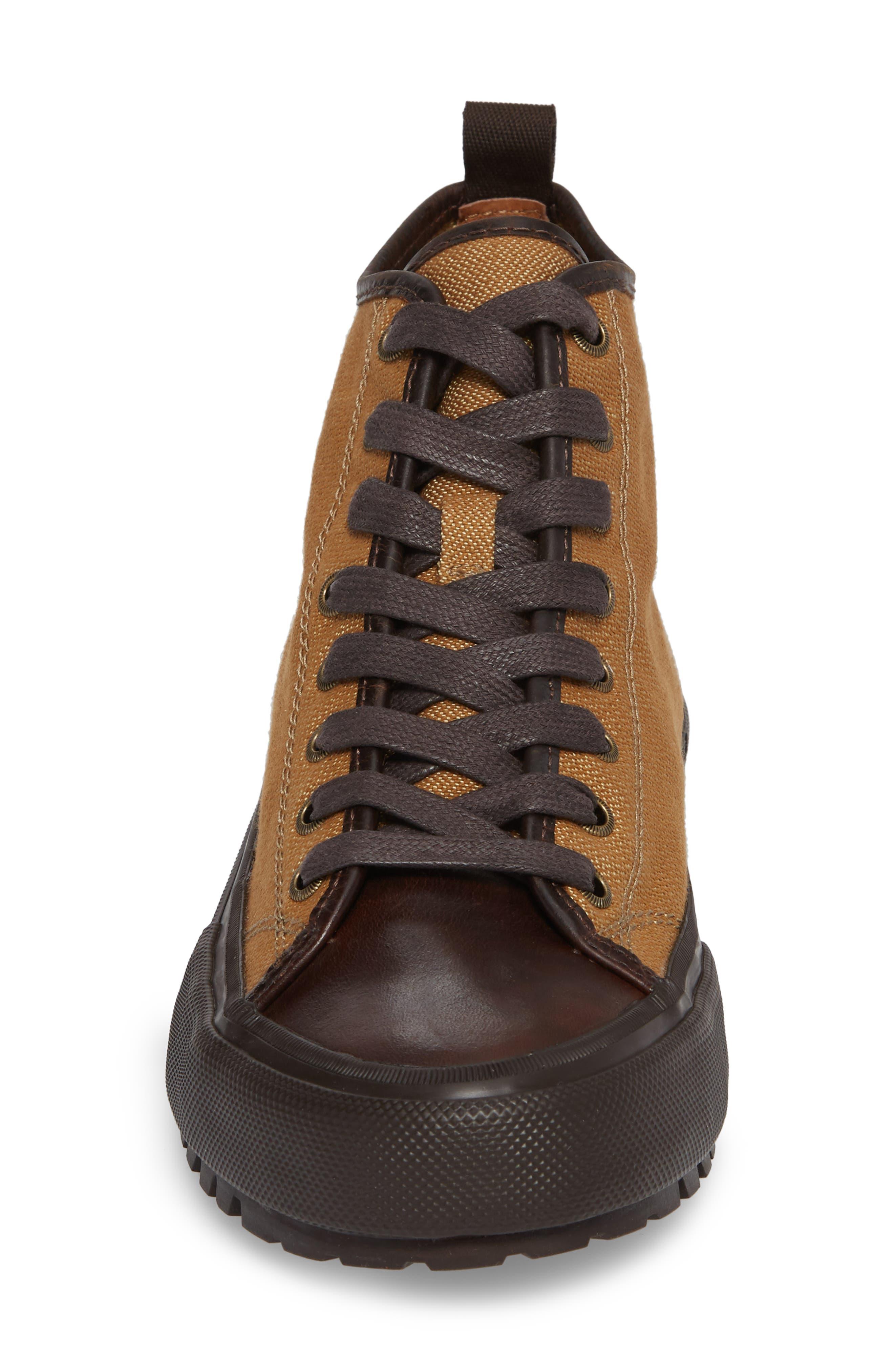 Ryan Lugged Sneaker Boot,                             Alternate thumbnail 4, color,                             Tan Canvas