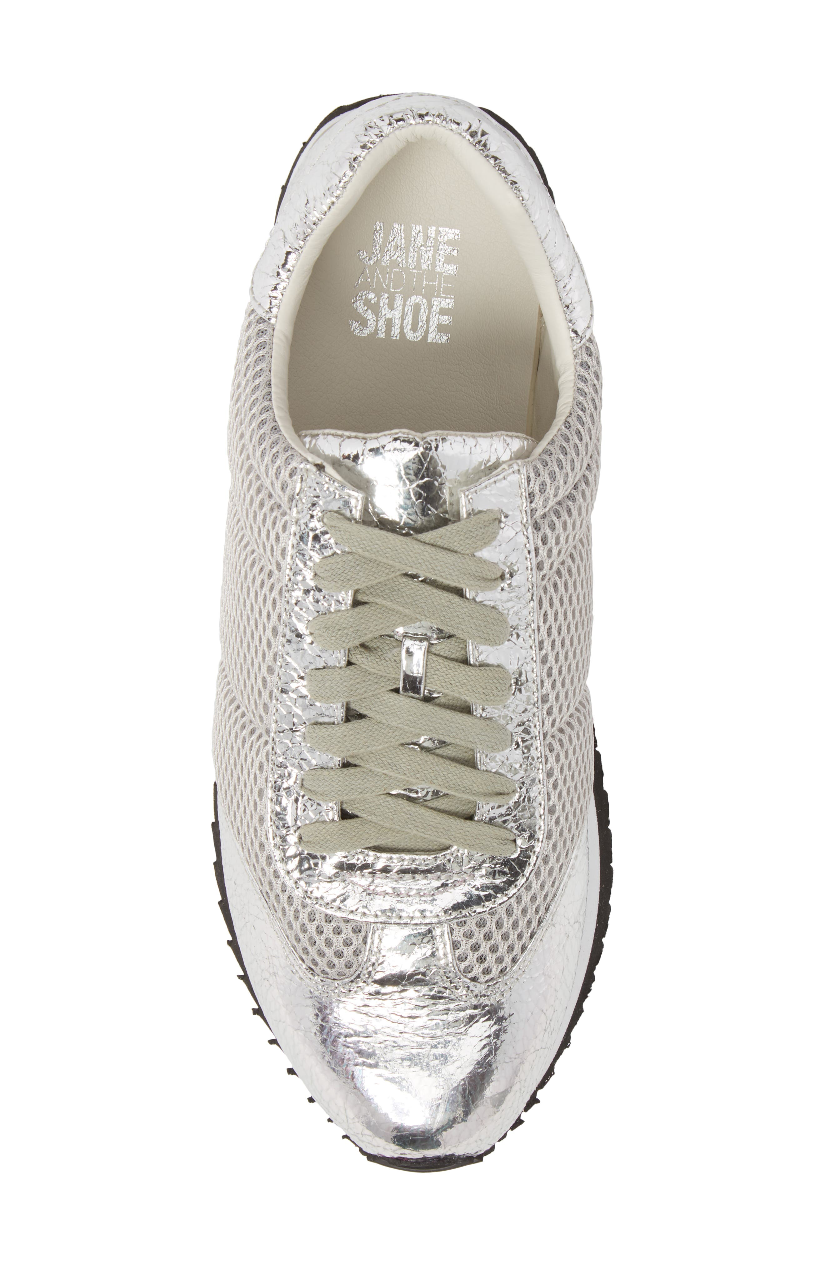 Jaclyn Mesh Sneaker,                             Alternate thumbnail 5, color,                             Silver