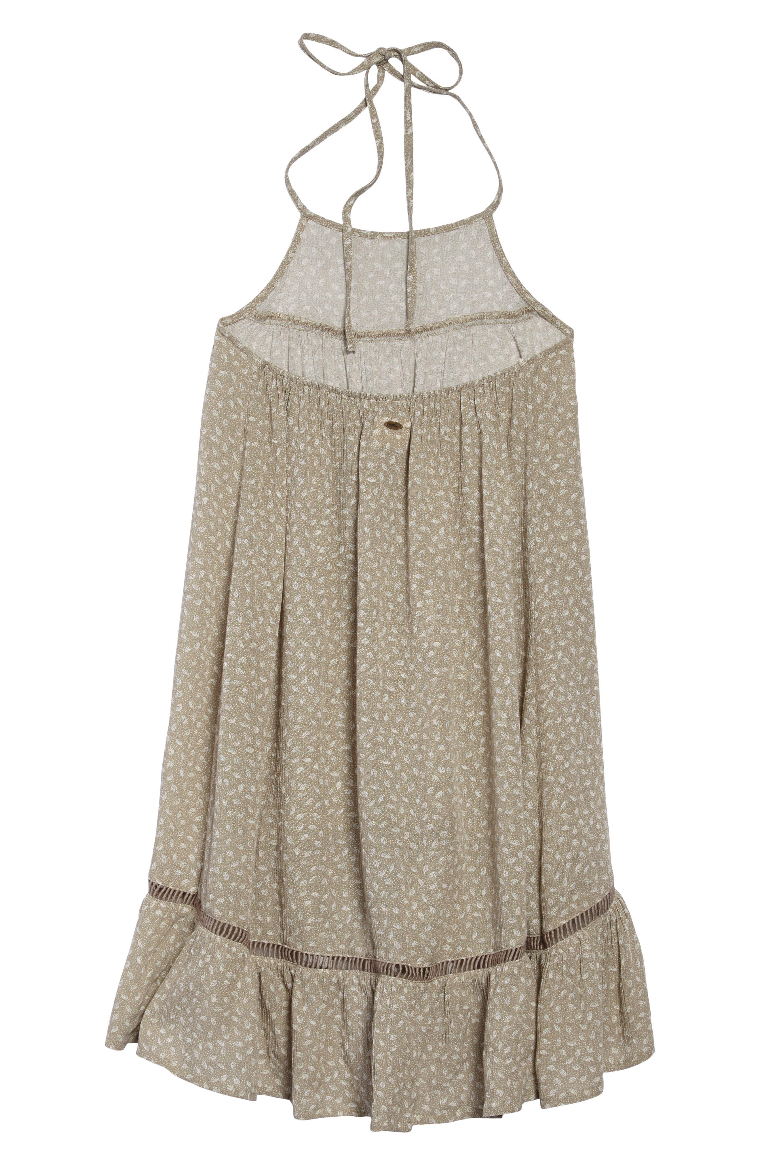 Danielle Ruffle Halter Dress,                             Alternate thumbnail 2, color,                             Laurel Oak