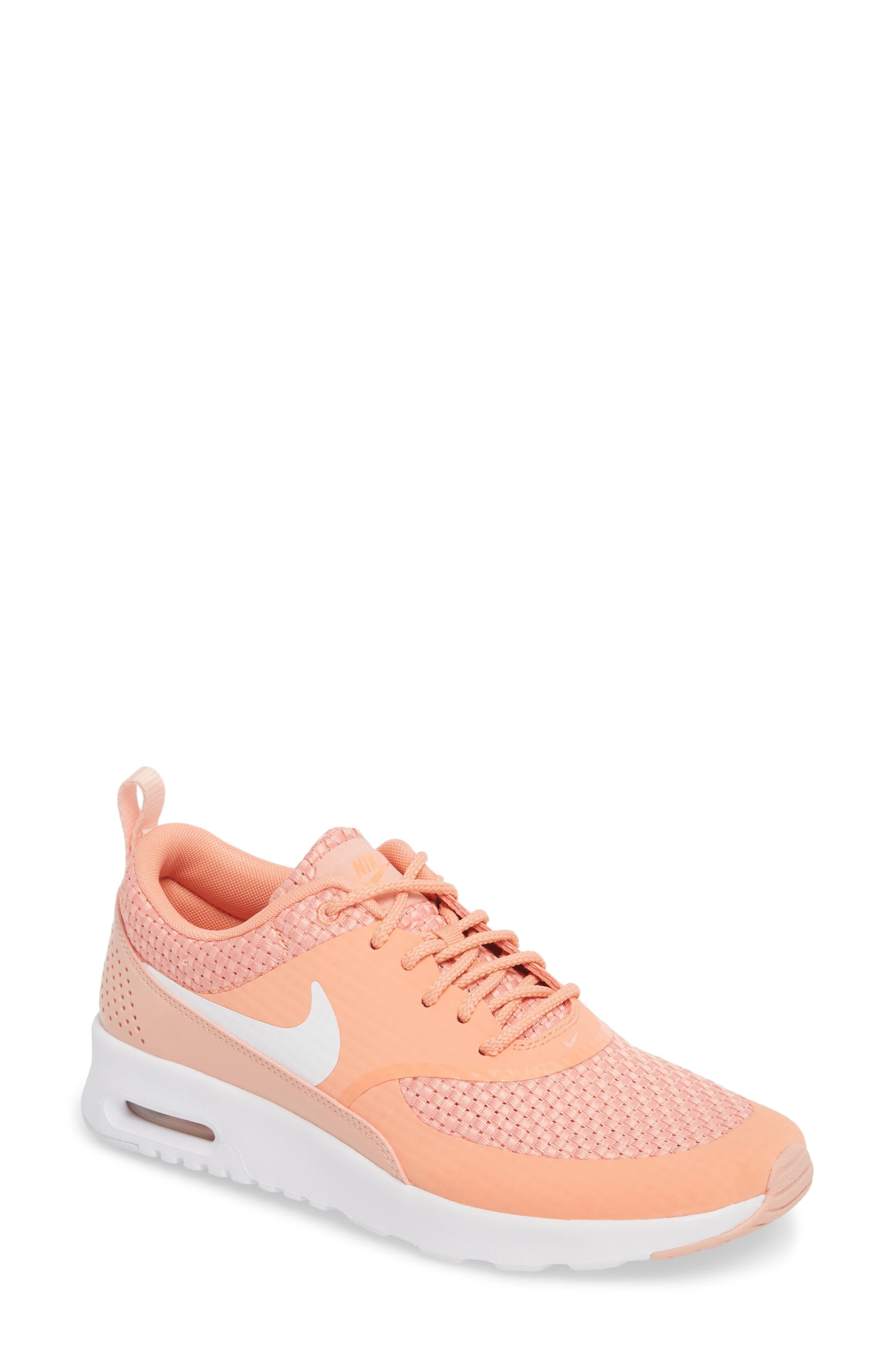 Air Max Thea Sneaker,                             Main thumbnail 1, color,                             Crimson Bliss/ White