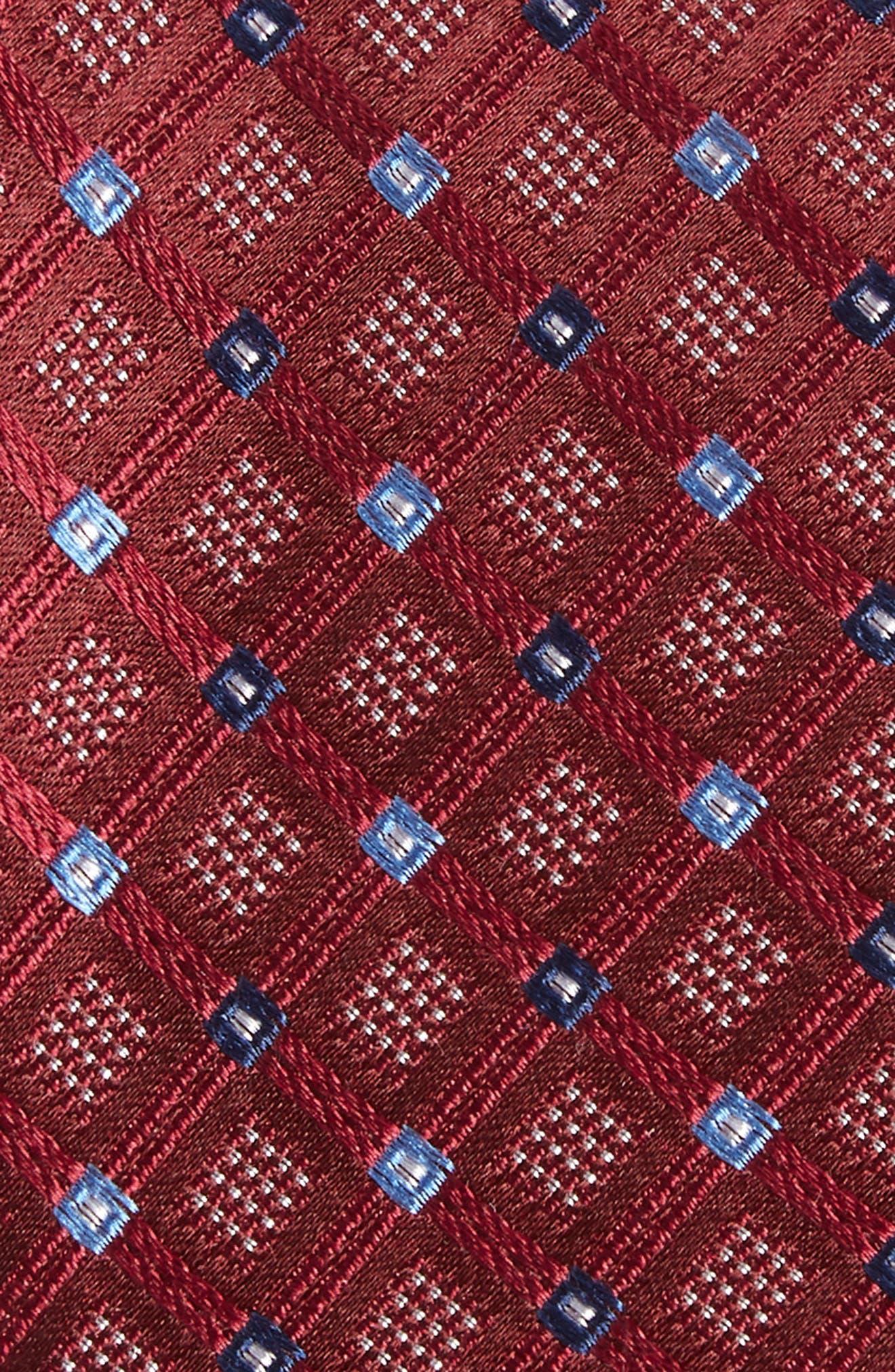 Coventry Check Silk Tie,                             Alternate thumbnail 2, color,                             Wine