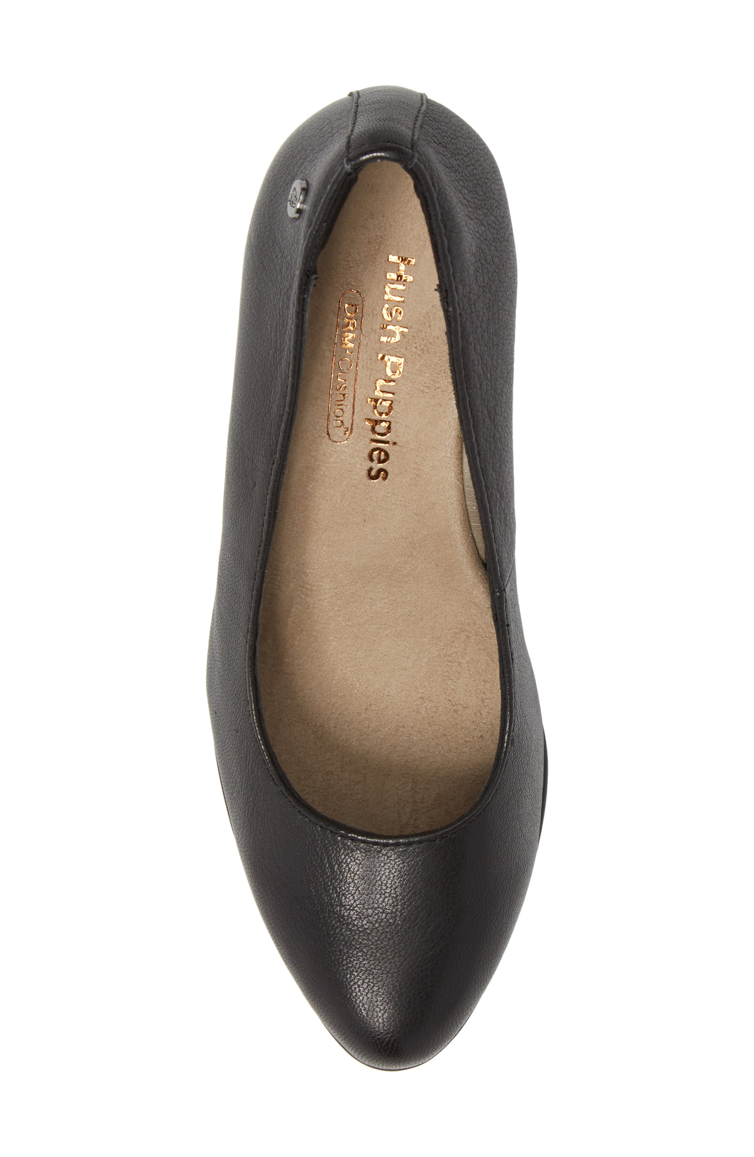 Minam Meaghan Pump,                             Alternate thumbnail 5, color,                             Black Leather