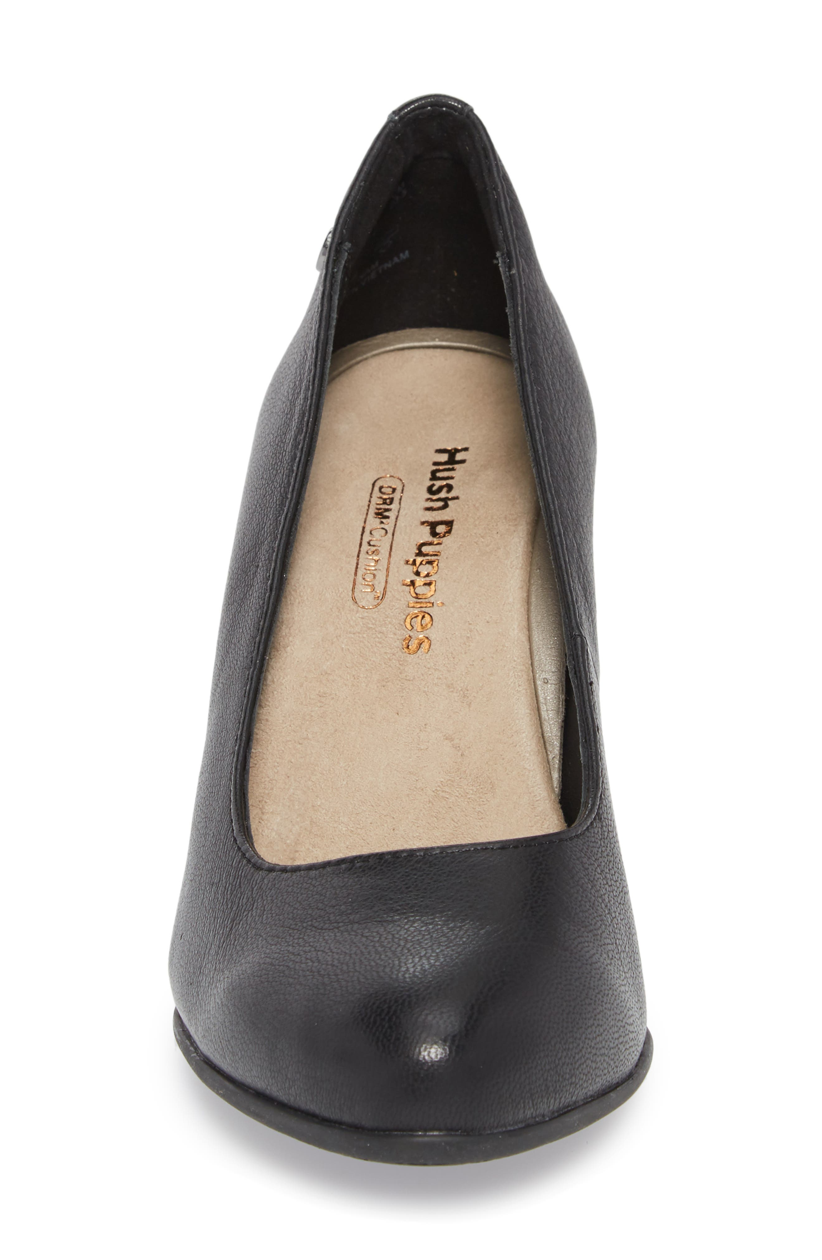 Minam Meaghan Pump,                             Alternate thumbnail 4, color,                             Black Leather