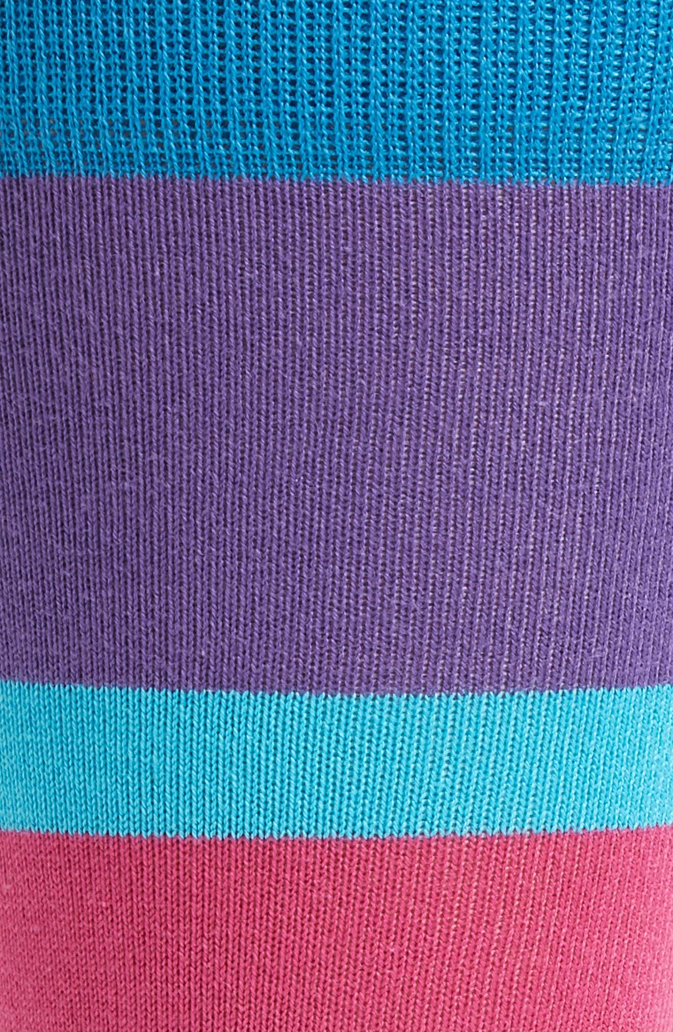 Jolly Colorblock Socks,                             Alternate thumbnail 2, color,                             Green/ Blue Multi