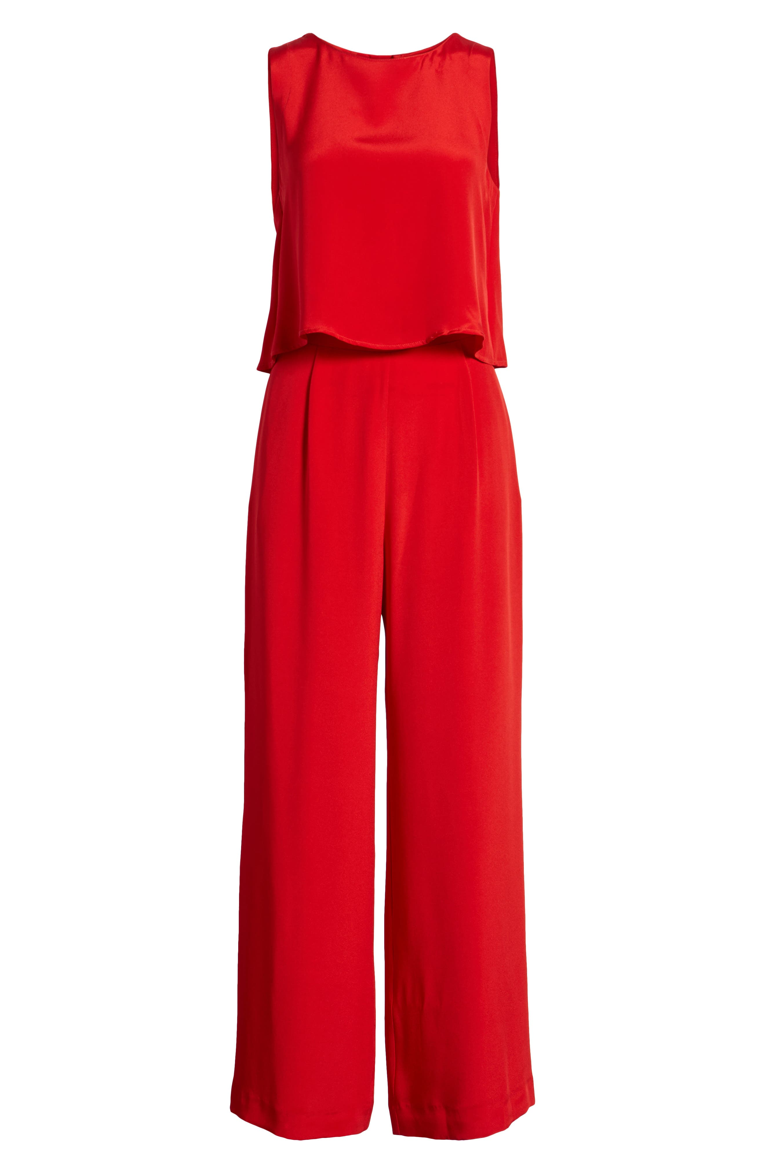 Urban Silky Top & Pants,                             Alternate thumbnail 6, color,                             Red