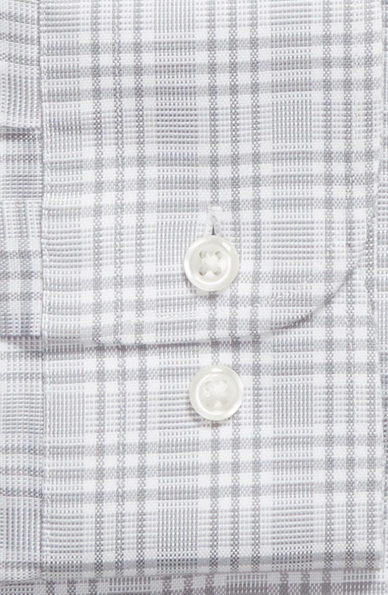 Smartcare<sup>™</sup> Traditional Fit Plaid Dress Shirt,                             Alternate thumbnail 5, color,                             Grey Sleet