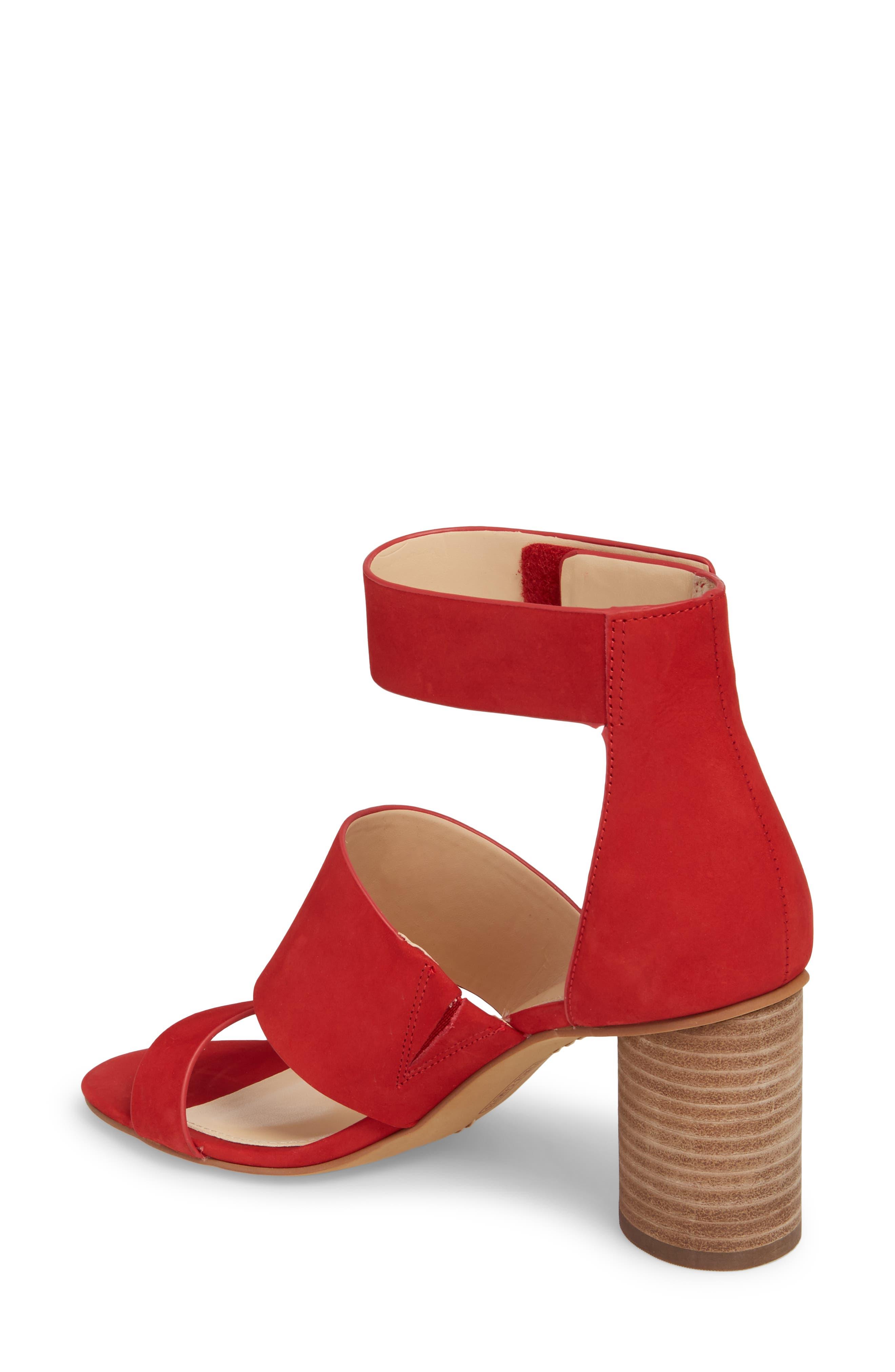 Junette Sandal,                             Alternate thumbnail 2, color,                             Cherry Red Leather