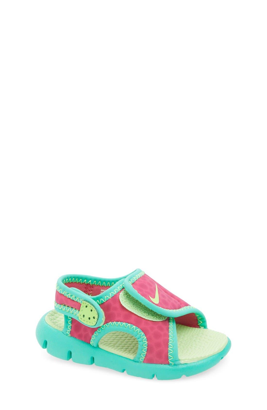 Alternate Image 1 Selected - Nike 'Sunray Adjust 4' Sandal (Baby, Walker & Toddler)