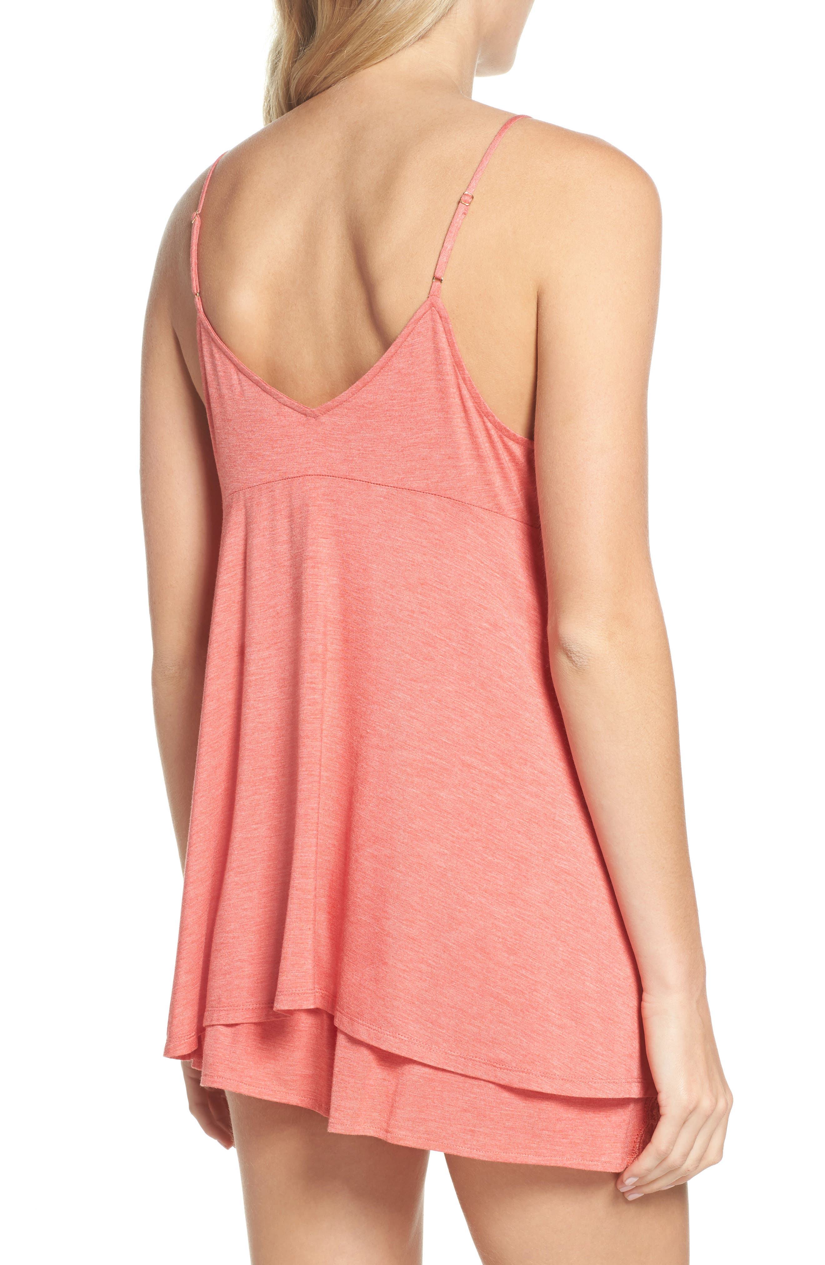 Feathers Essential Camisole,                             Alternate thumbnail 2, color,                             Coral