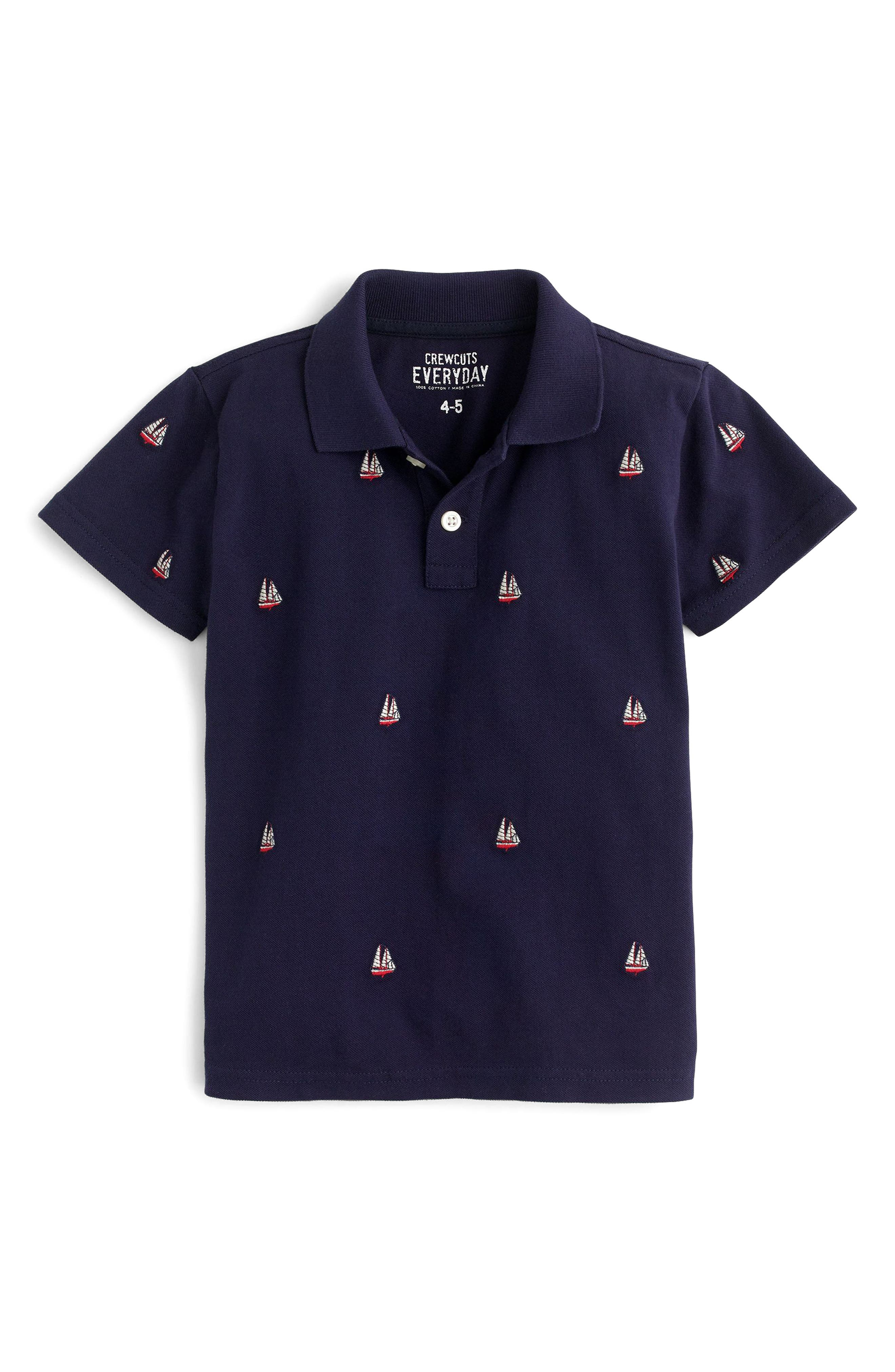 Crewcuts Critter Piqué Polo (Toddler Boys, Little Boys & Big Boys)