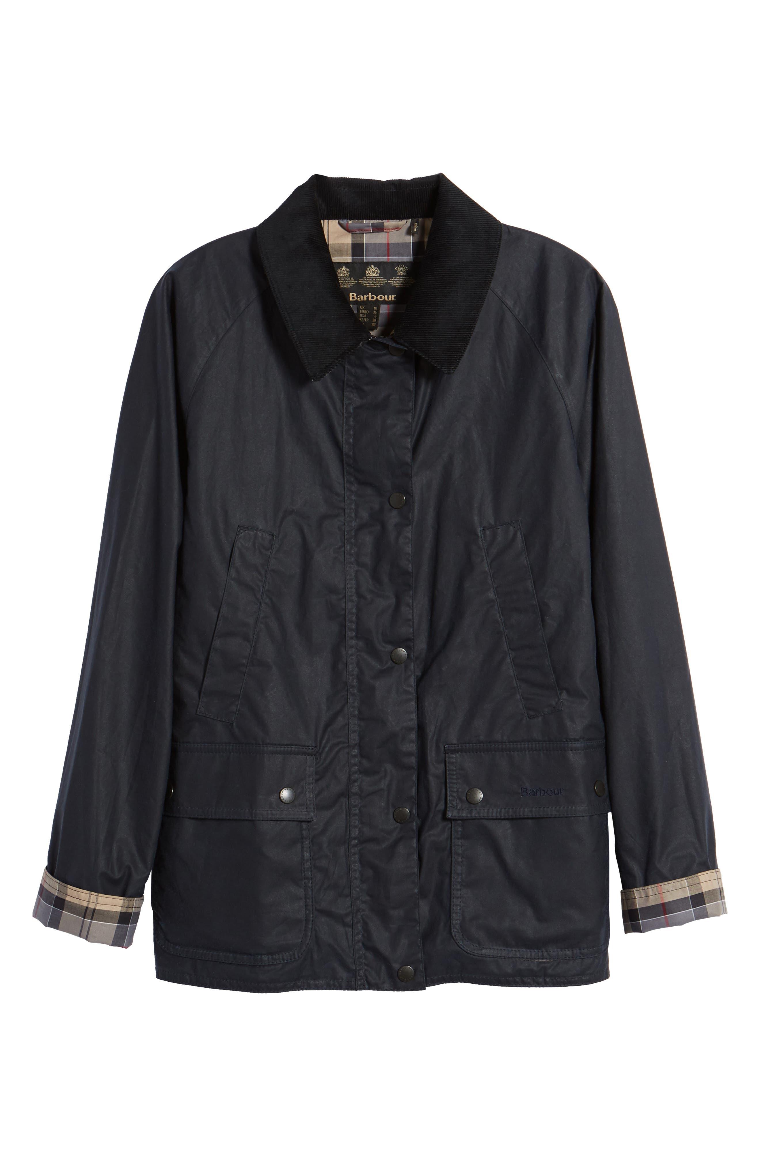 Acorn Water Resistant Waxed Cotton Jacket,                             Alternate thumbnail 9, color,                             Royal Navy
