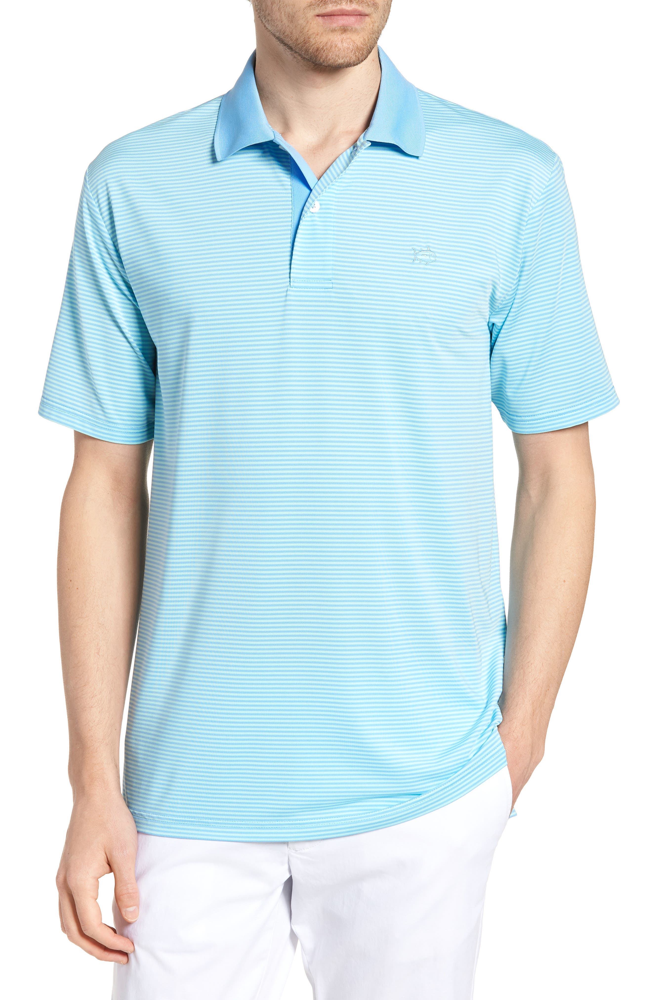Southern Tide Regular Fit Feeder Stripe Performance Polo