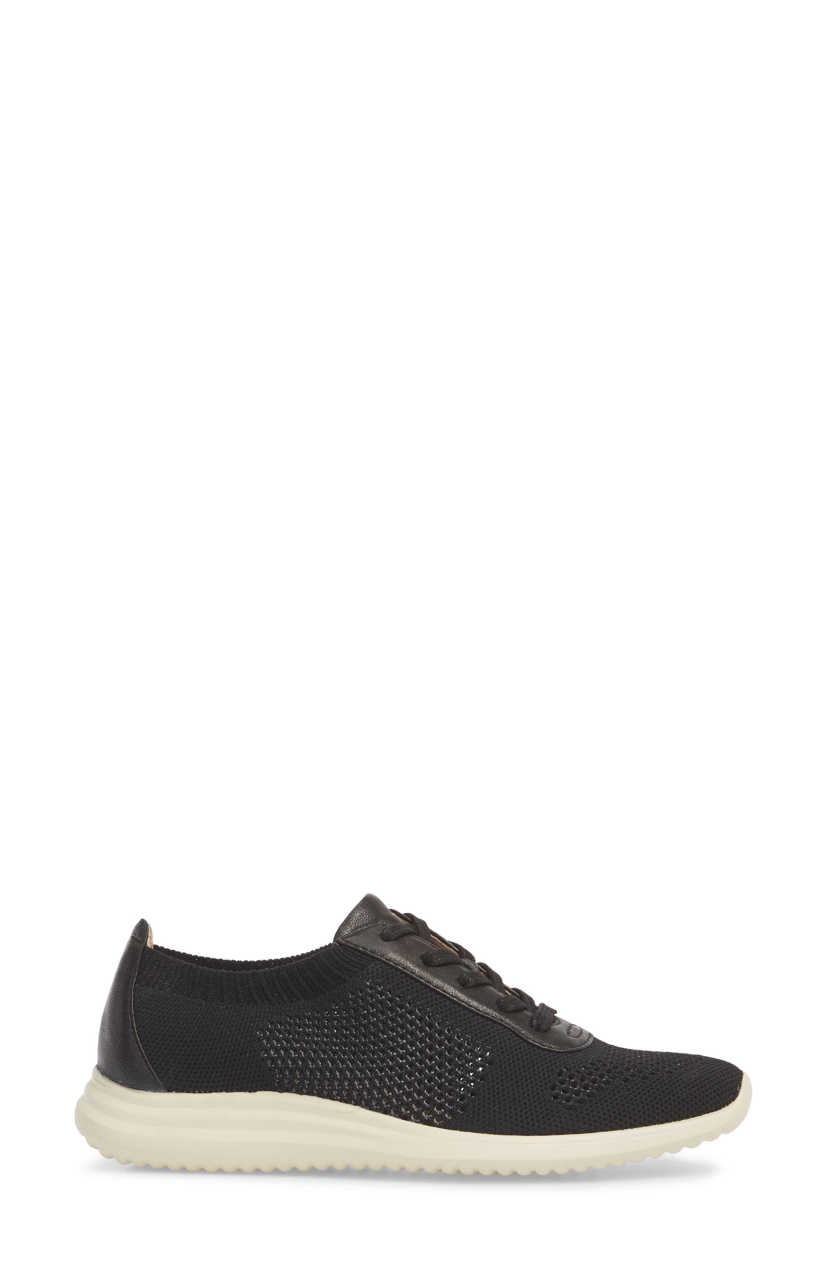 Novella Sneaker,                             Alternate thumbnail 3, color,                             Black Fabric