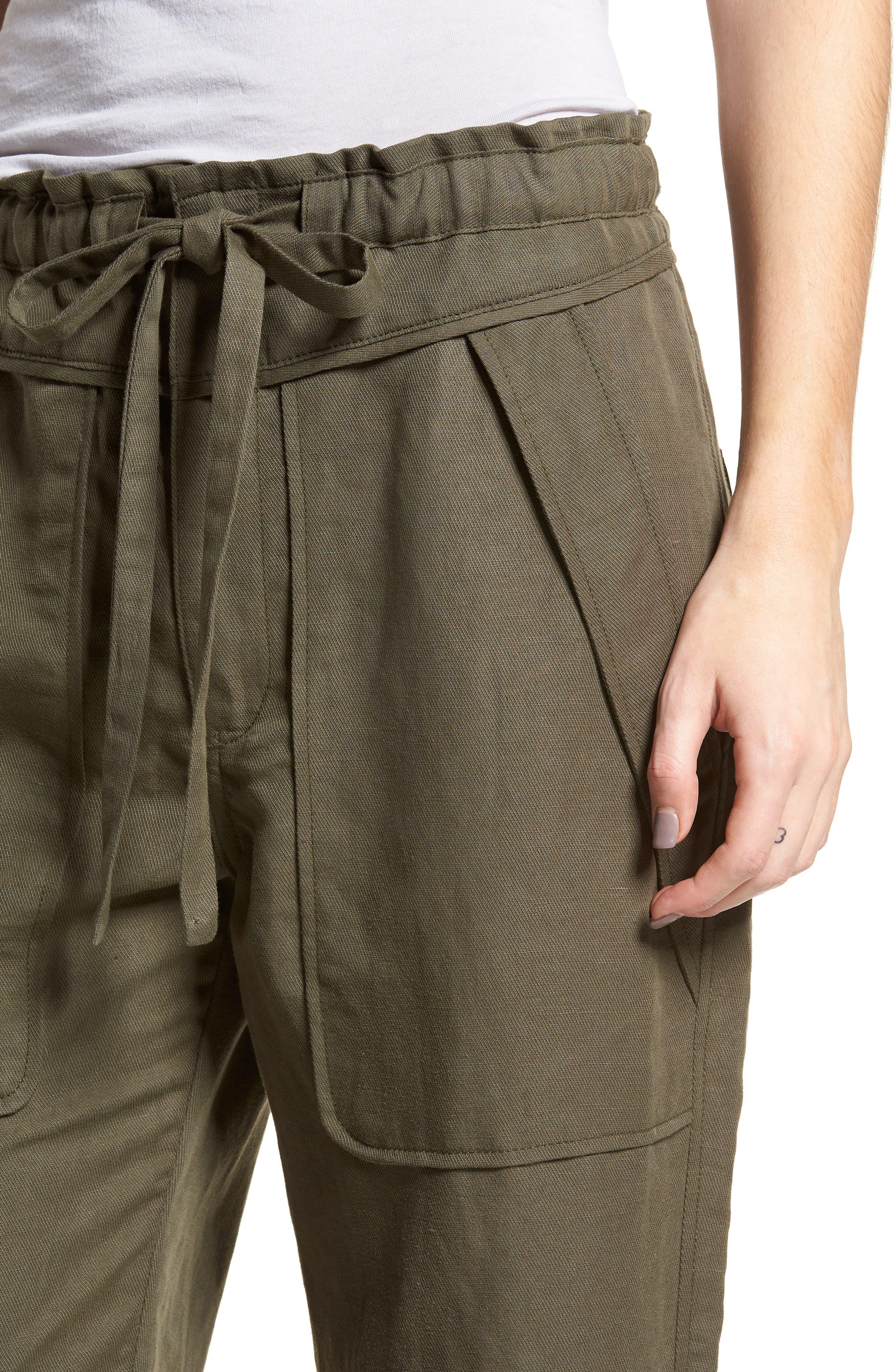 Stellina High Waist Pants,                             Alternate thumbnail 4, color,                             Verdant