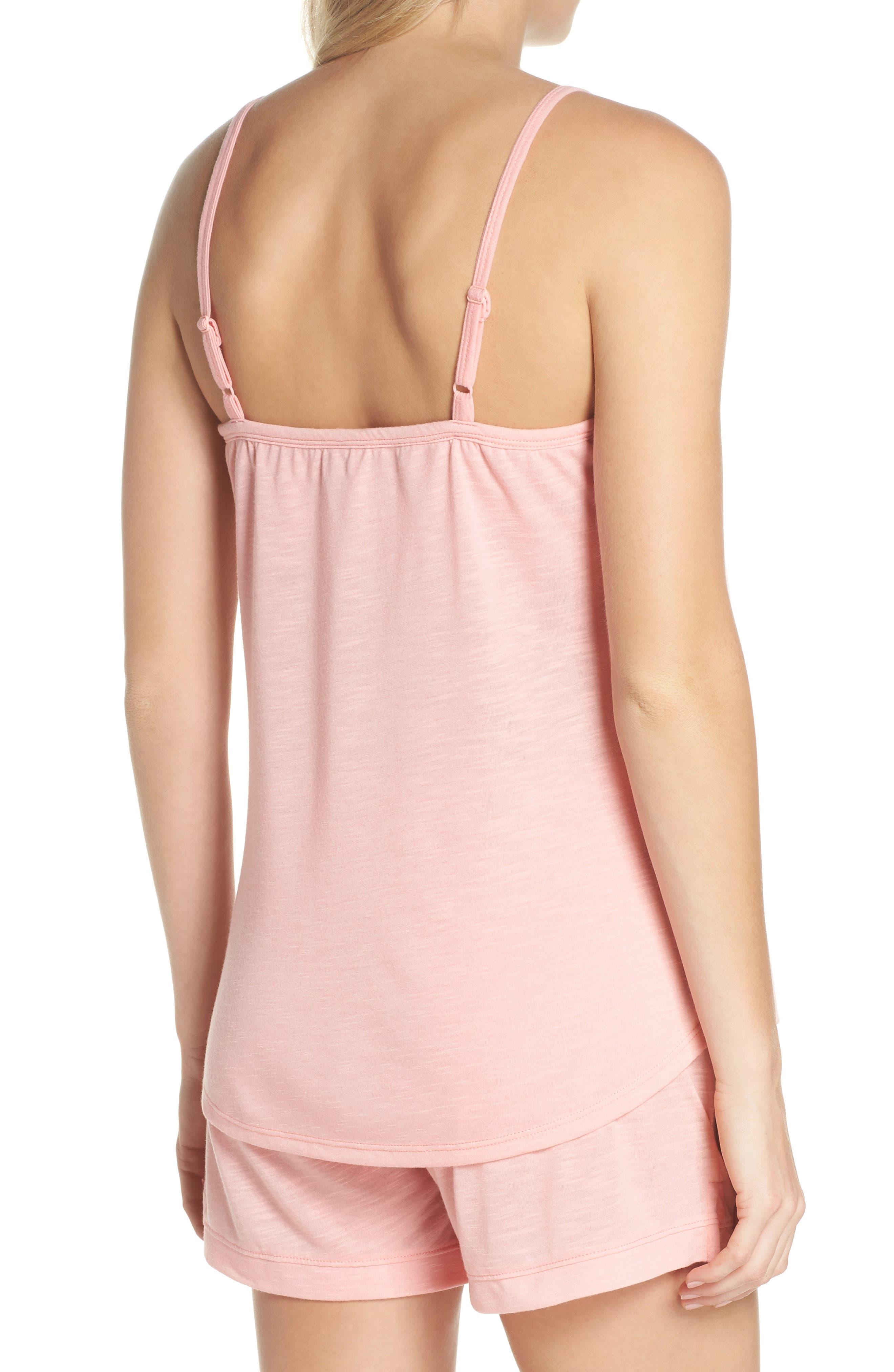 Summer Maternity/Nursing Short Pajamas,                             Alternate thumbnail 2, color,                             Peach