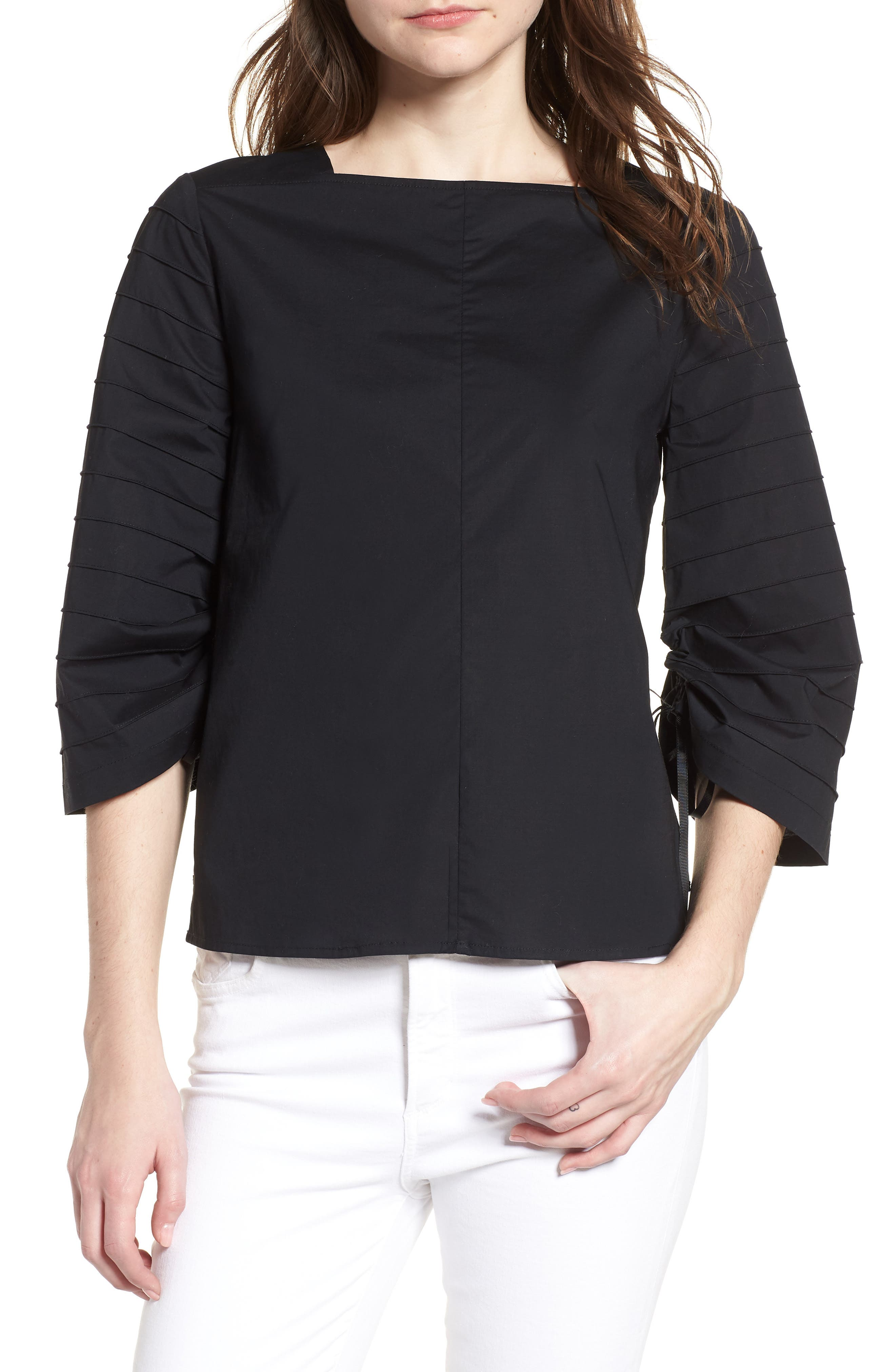 Ladylike Top,                         Main,                         color, Black