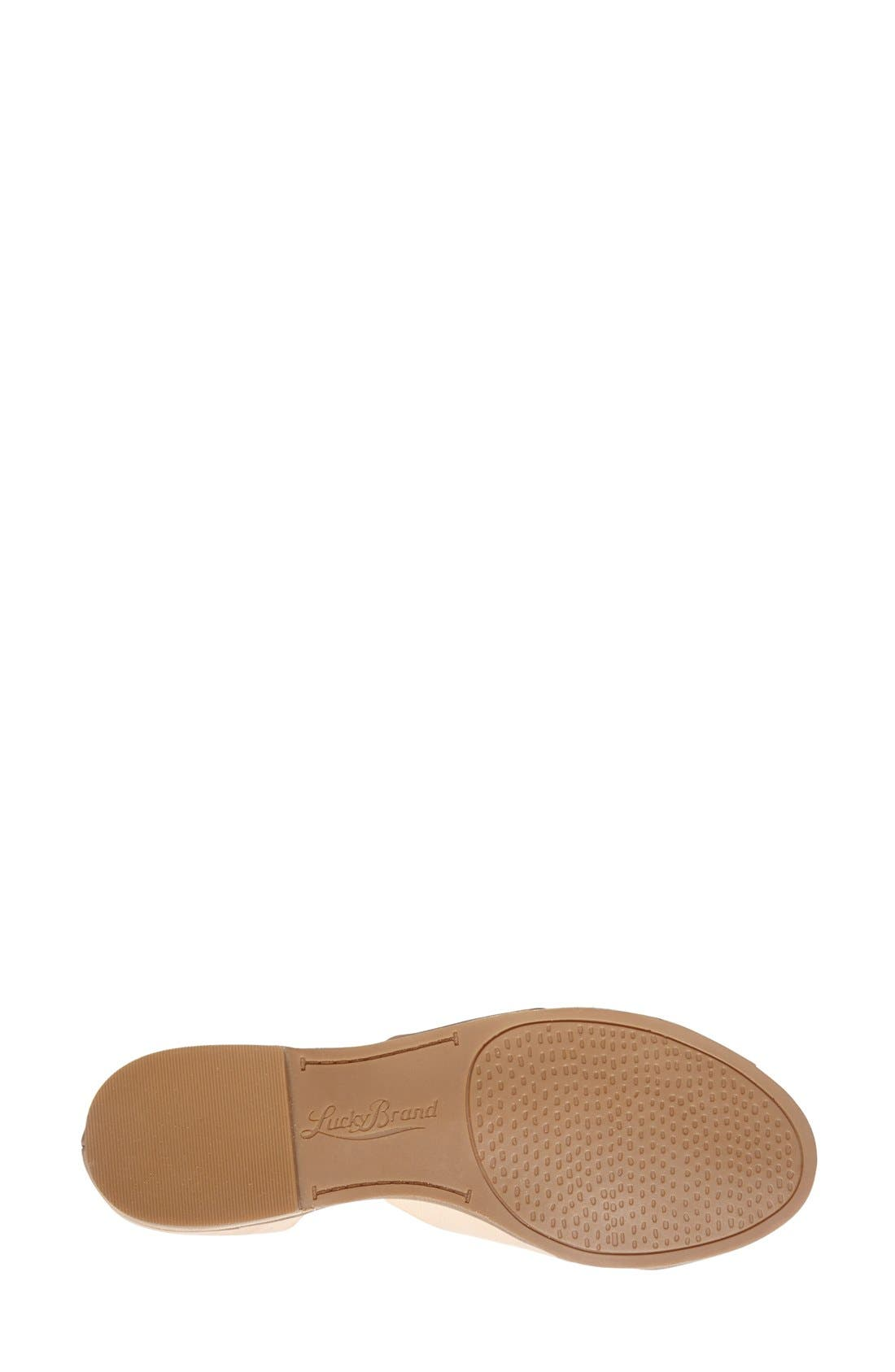 Alternate Image 4  - Lucky Brand 'Silla' Leather Cross Strap Sandal (Women)