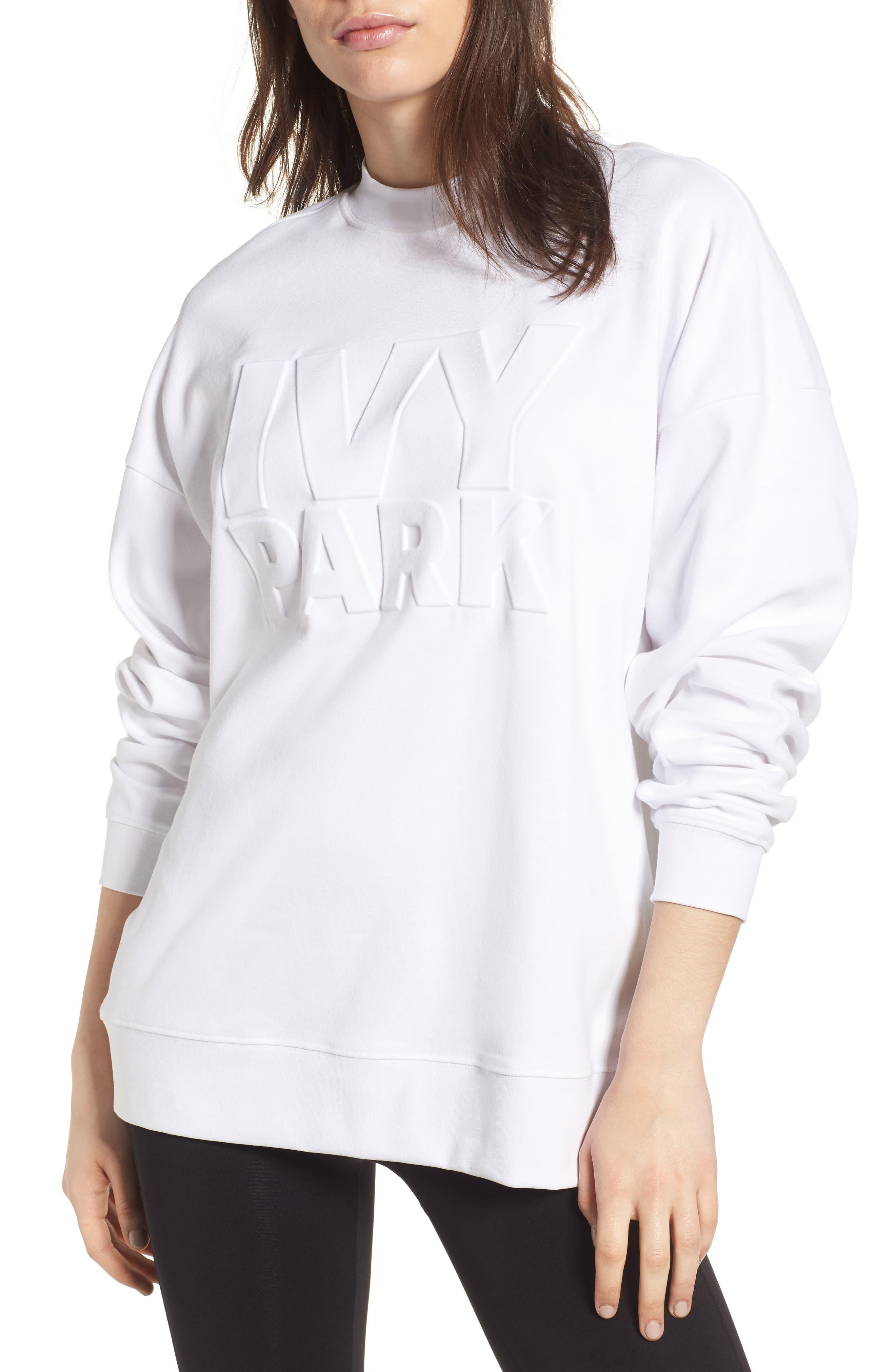 IVY PARK® Embossed Logo Crew Sweatshirt