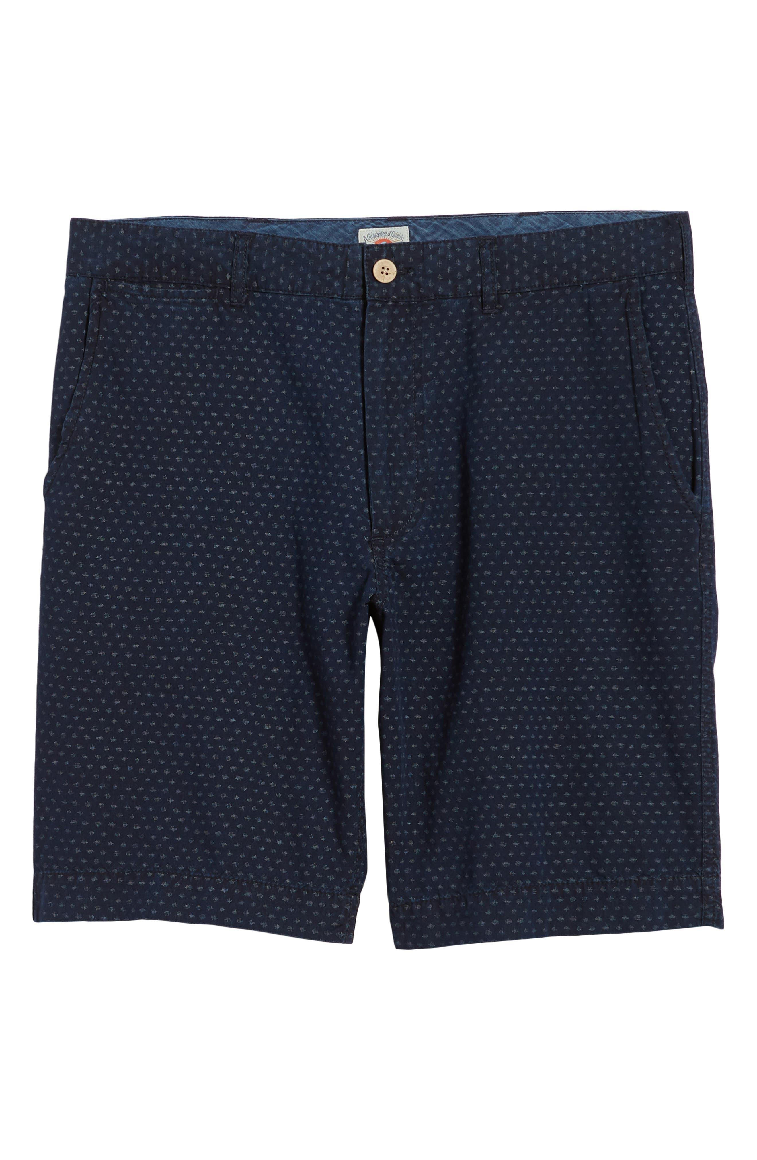 Asbury Shorts,                             Alternate thumbnail 6, color,                             Indigo Fleck