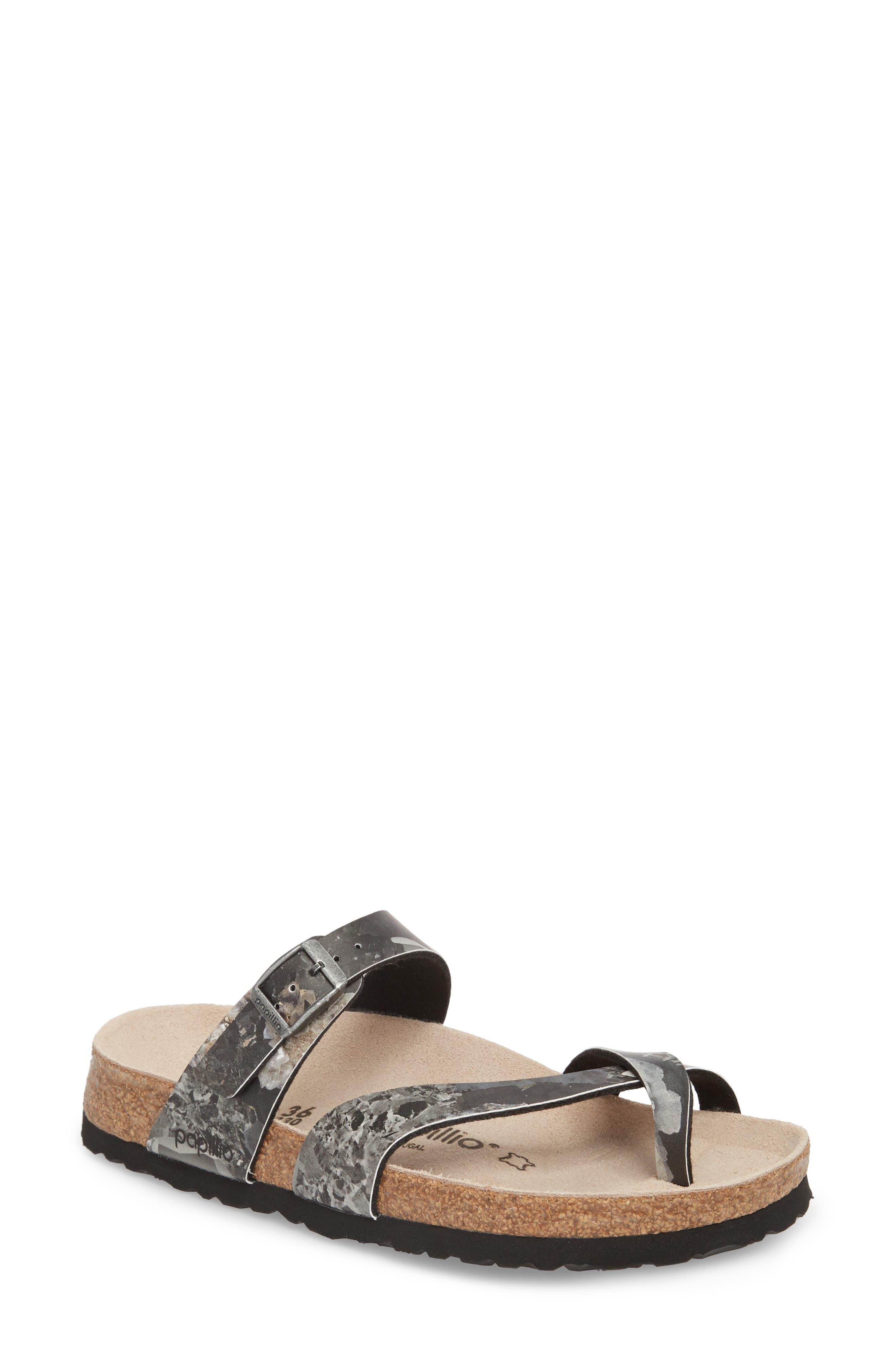 Papillio by Birkenstock Tabora Birko-Flor Slide Sandal,                         Main,                         color, Crystal Black Leather