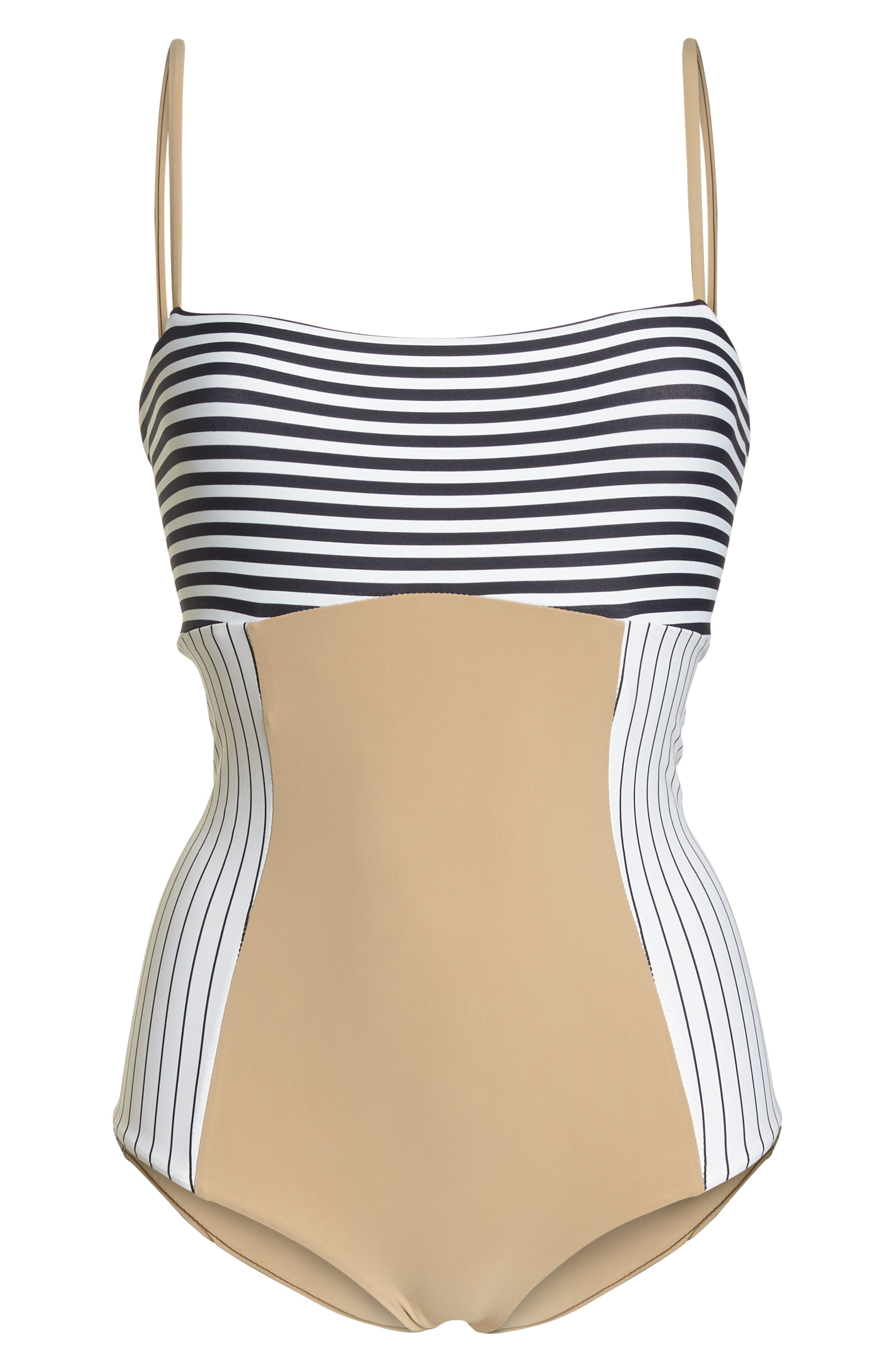 Finn One-Piece Swimsuit,                             Alternate thumbnail 6, color,                             Business Casual