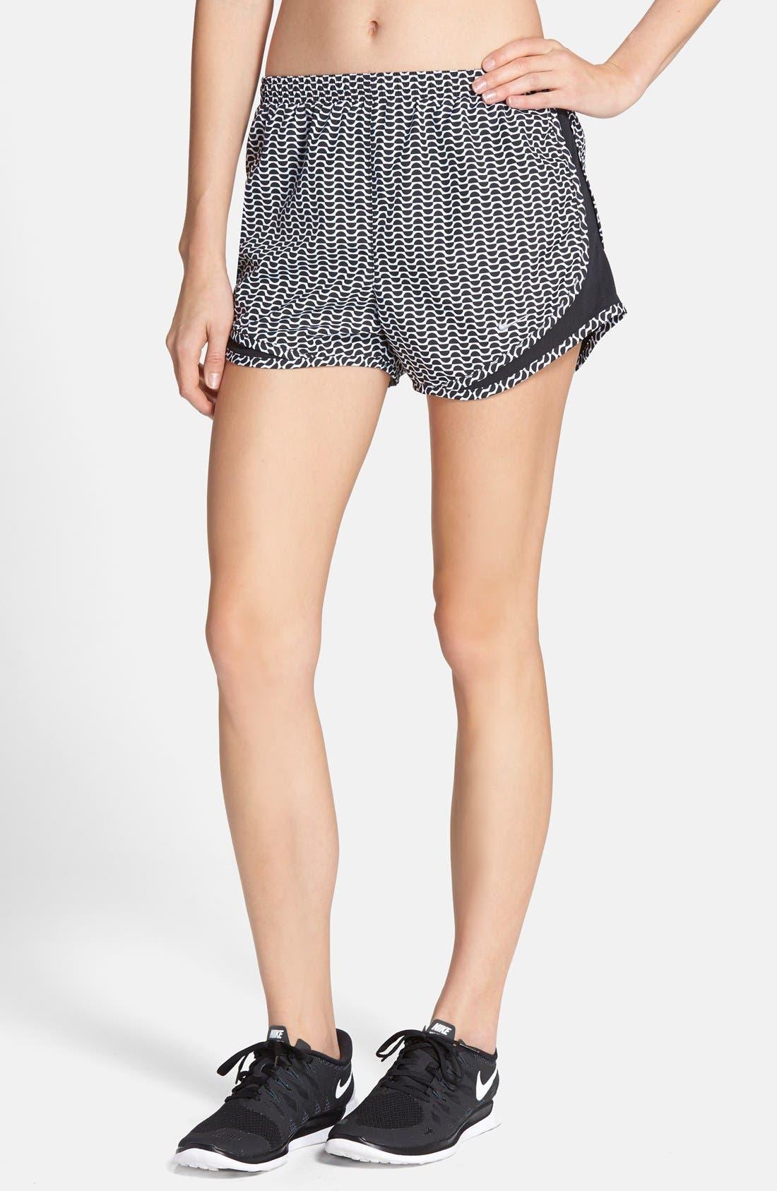 Main Image - Nike 'Tempo' Print Dri-FIT Running Shorts (Women)