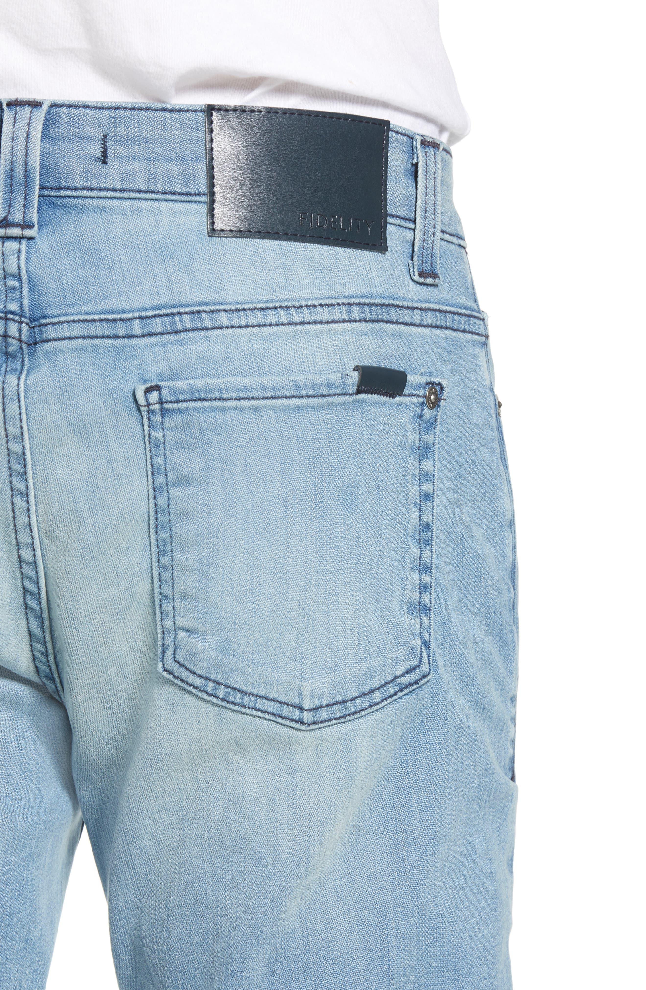 Torino Slim Fit Jeans,                             Alternate thumbnail 4, color,                             Abbey Blue