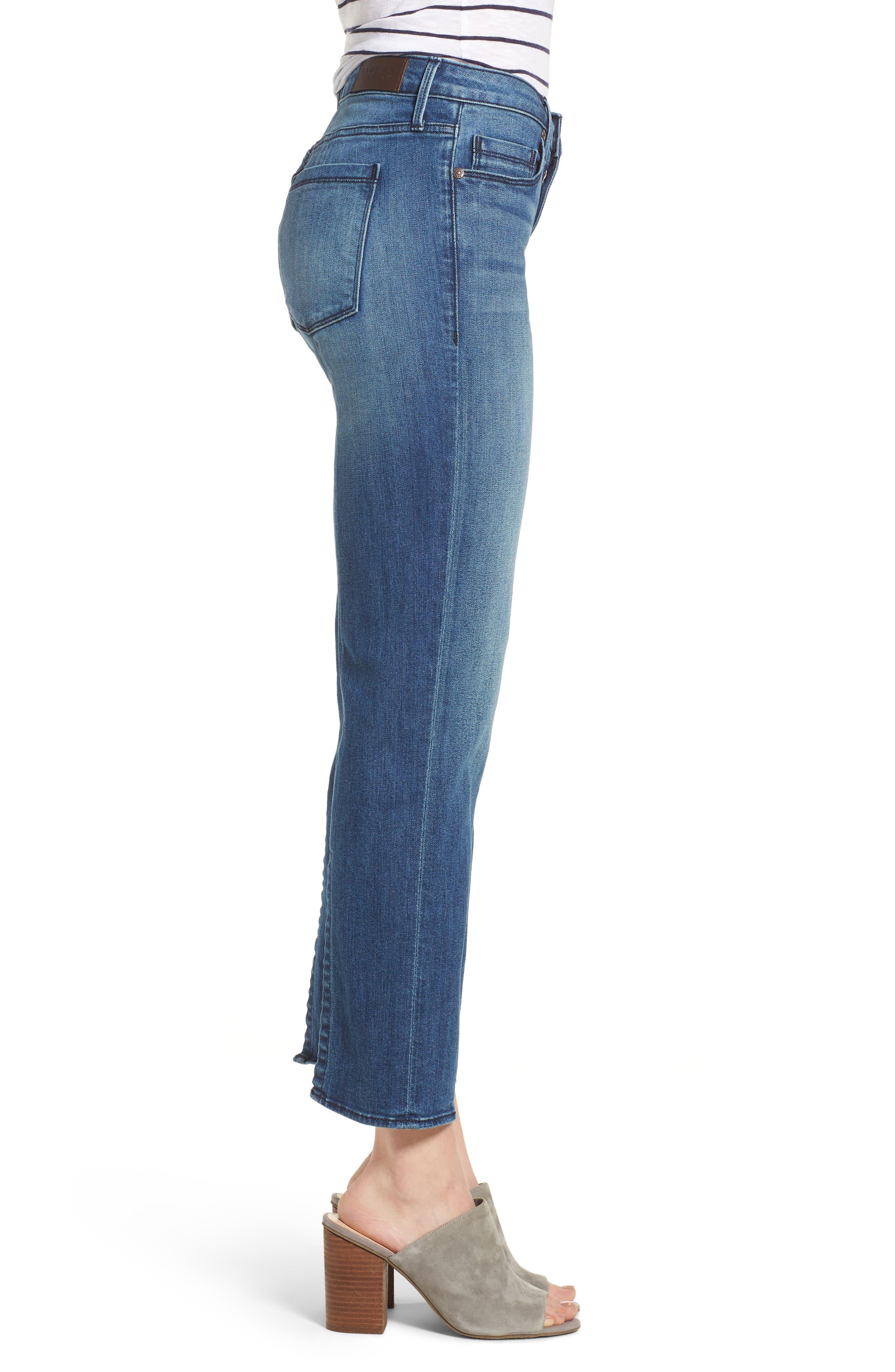 Split Back Crop Jeans,                             Alternate thumbnail 3, color,                             Ventura