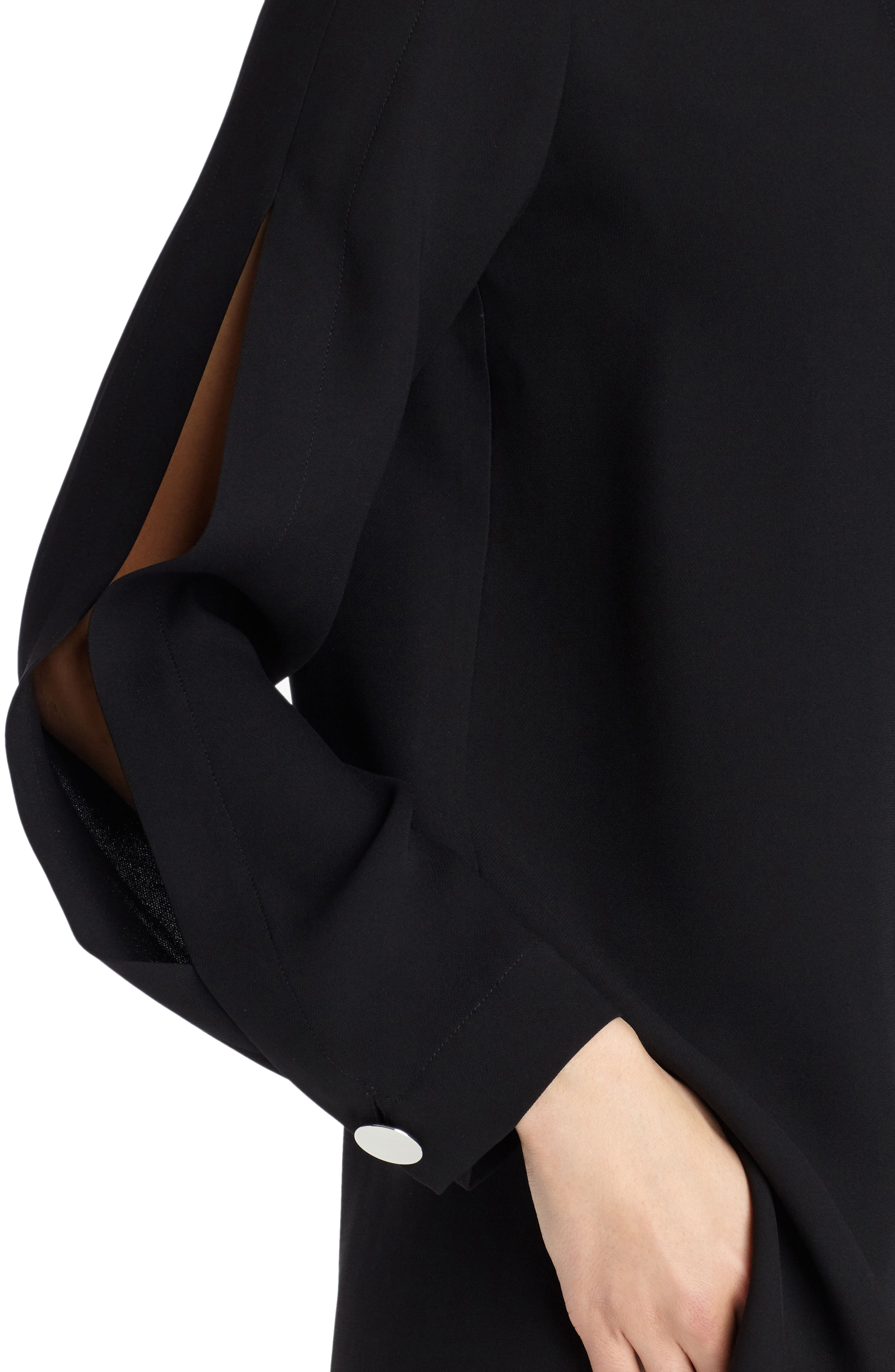 Rowan Double Silk Georgette Blouse,                             Alternate thumbnail 4, color,                             Black