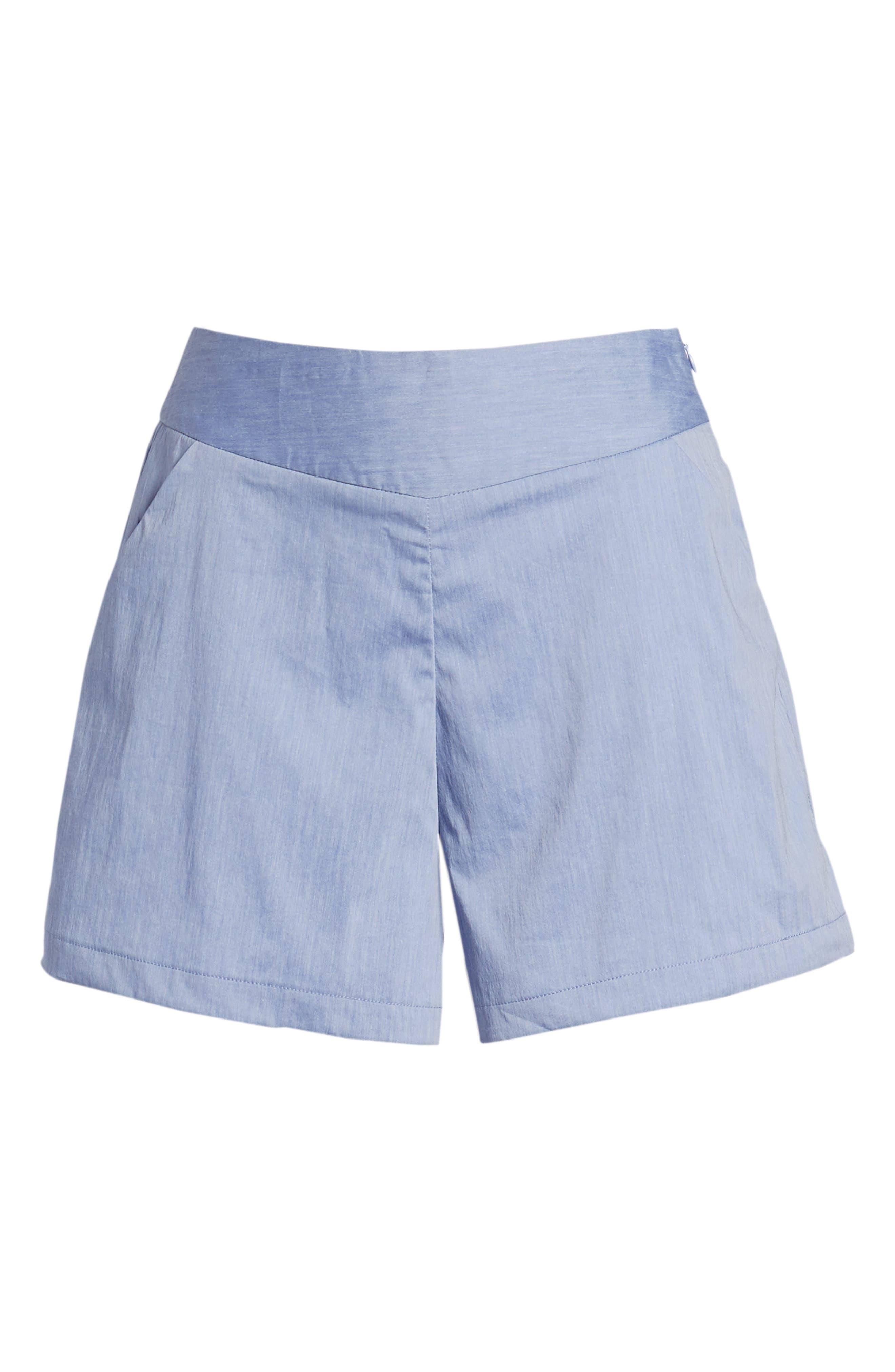 Bishop + Young Ana Pocket Shorts,                             Alternate thumbnail 6, color,                             Blue