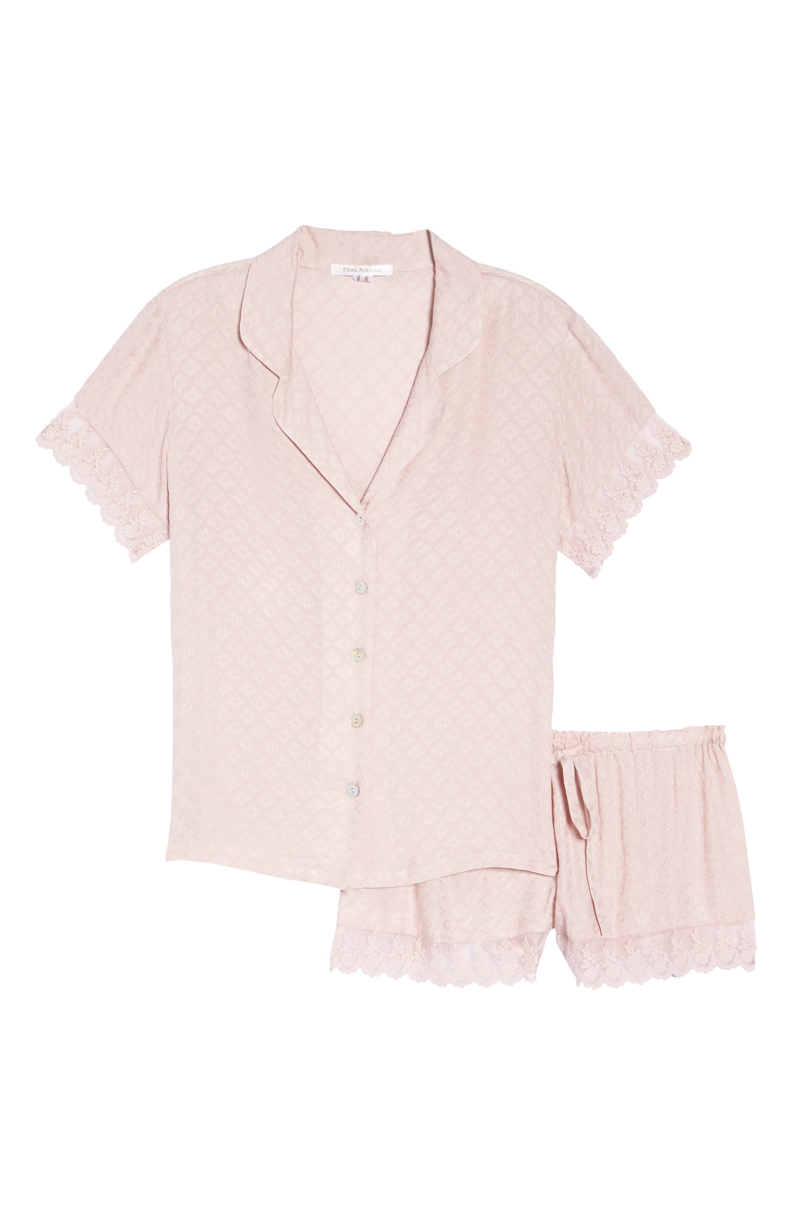 Laurel Short Pajamas,                             Alternate thumbnail 6, color,                             Sepia Rose
