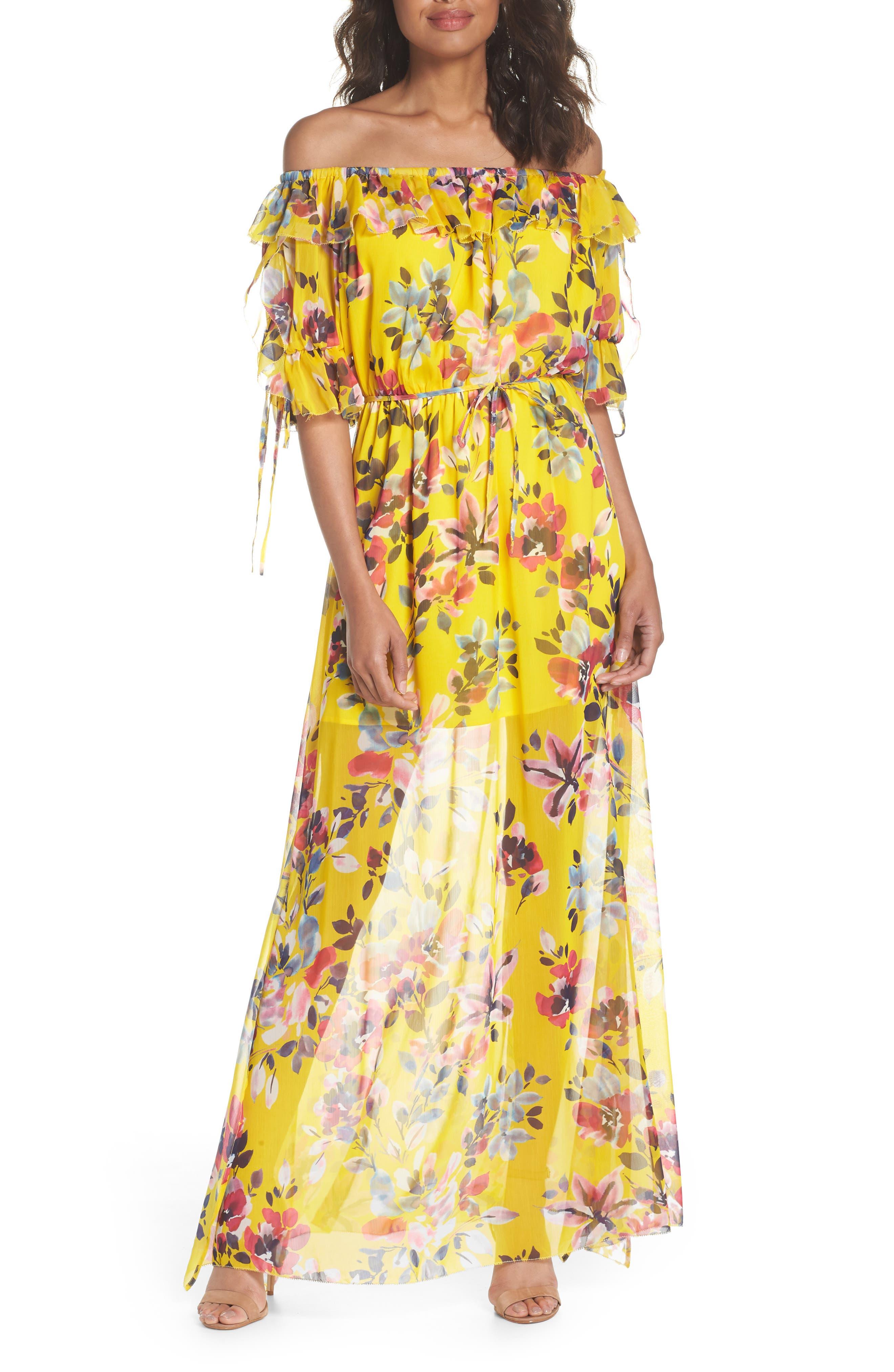 Linosa Crinkle Maxi Dress,                         Main,                         color, Citrus
