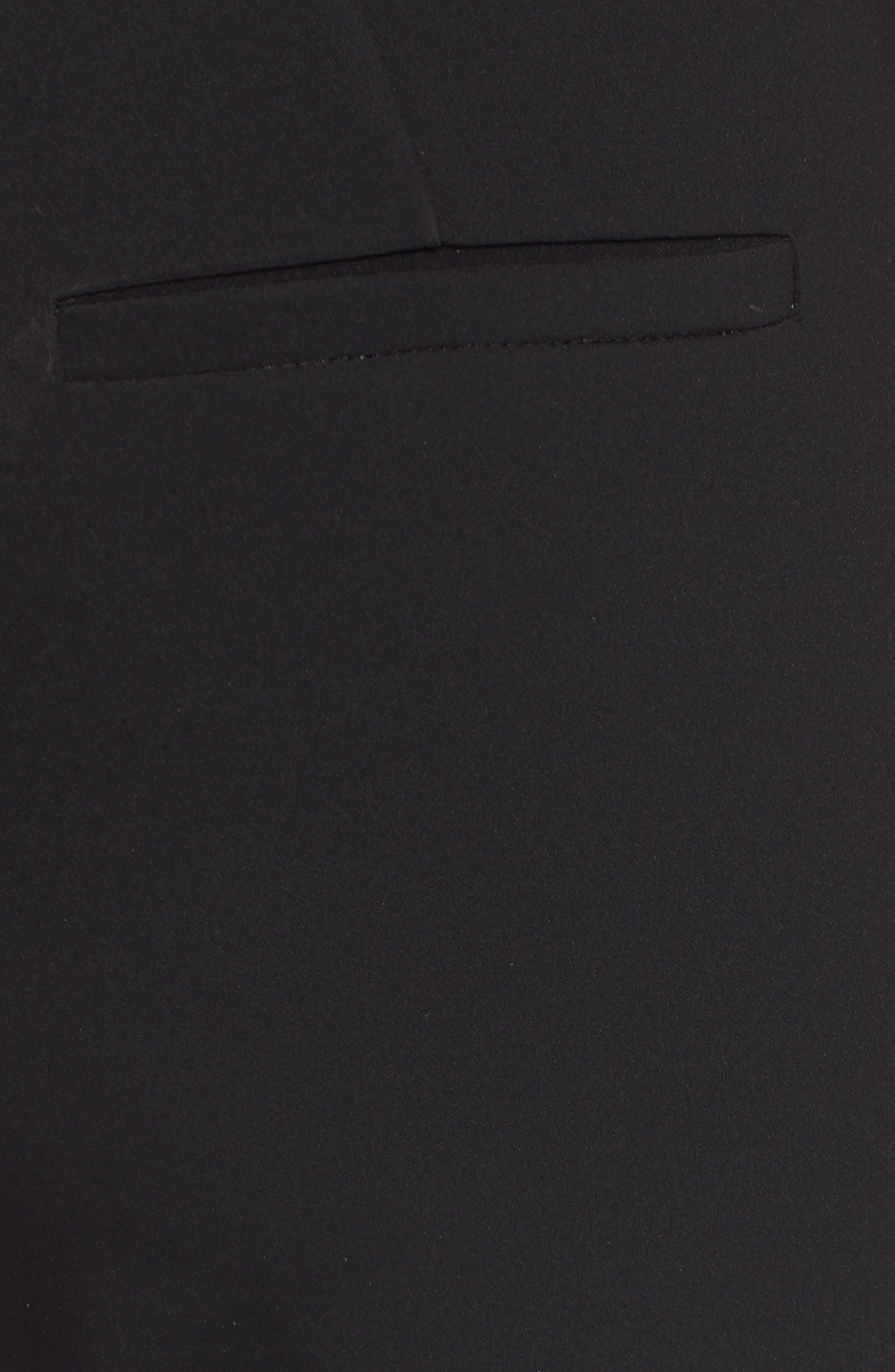 Crop Bi-Stretch Pants,                             Alternate thumbnail 5, color,                             Black