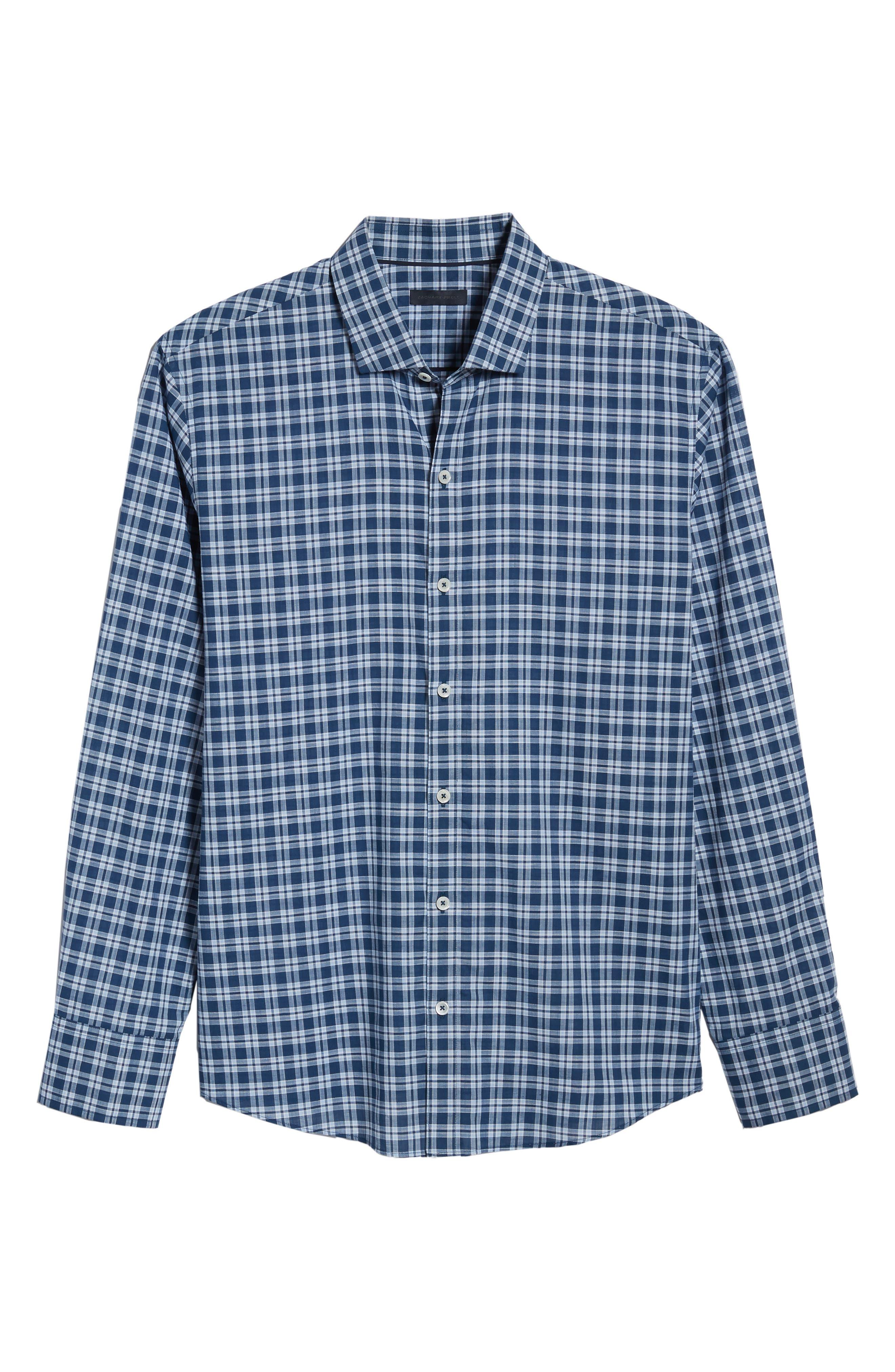 Speer Regular Fit Sport Shirt,                             Alternate thumbnail 6, color,                             Indigo