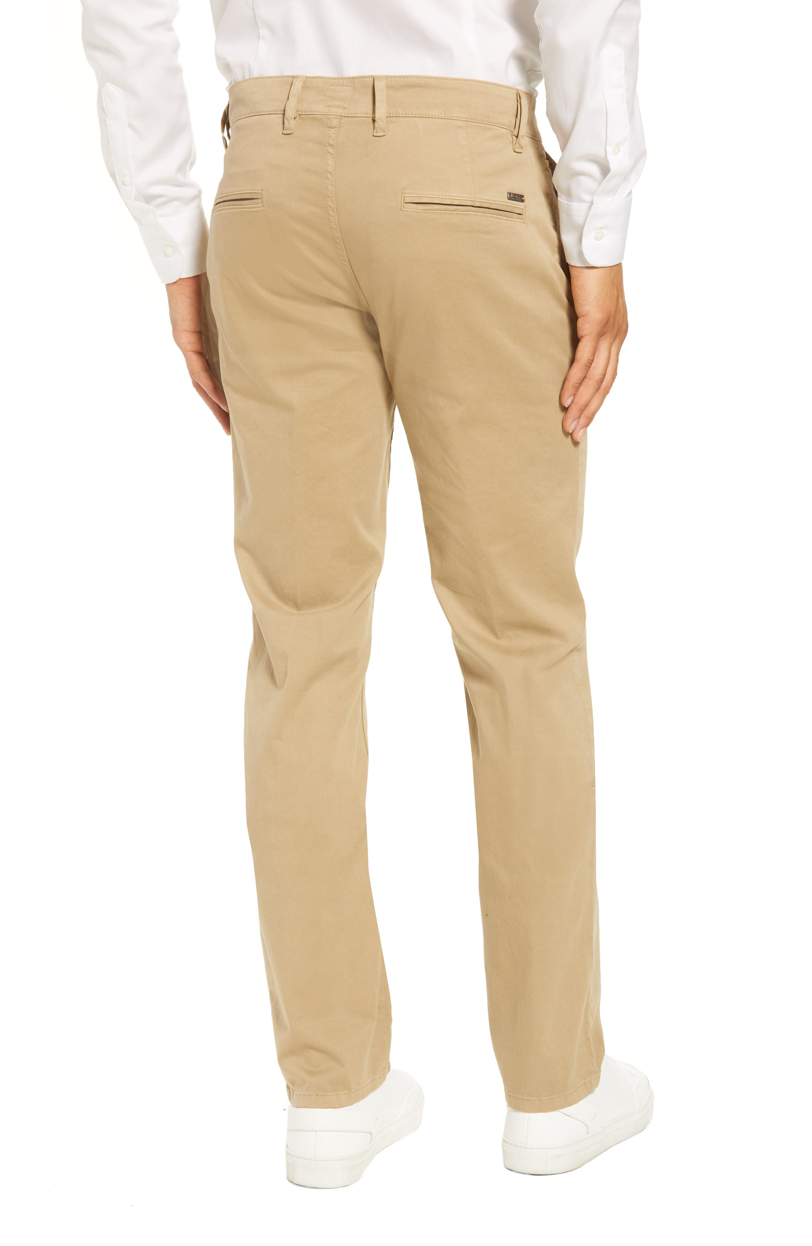 Stretch Chino Pants,                             Alternate thumbnail 2, color,                             Brown