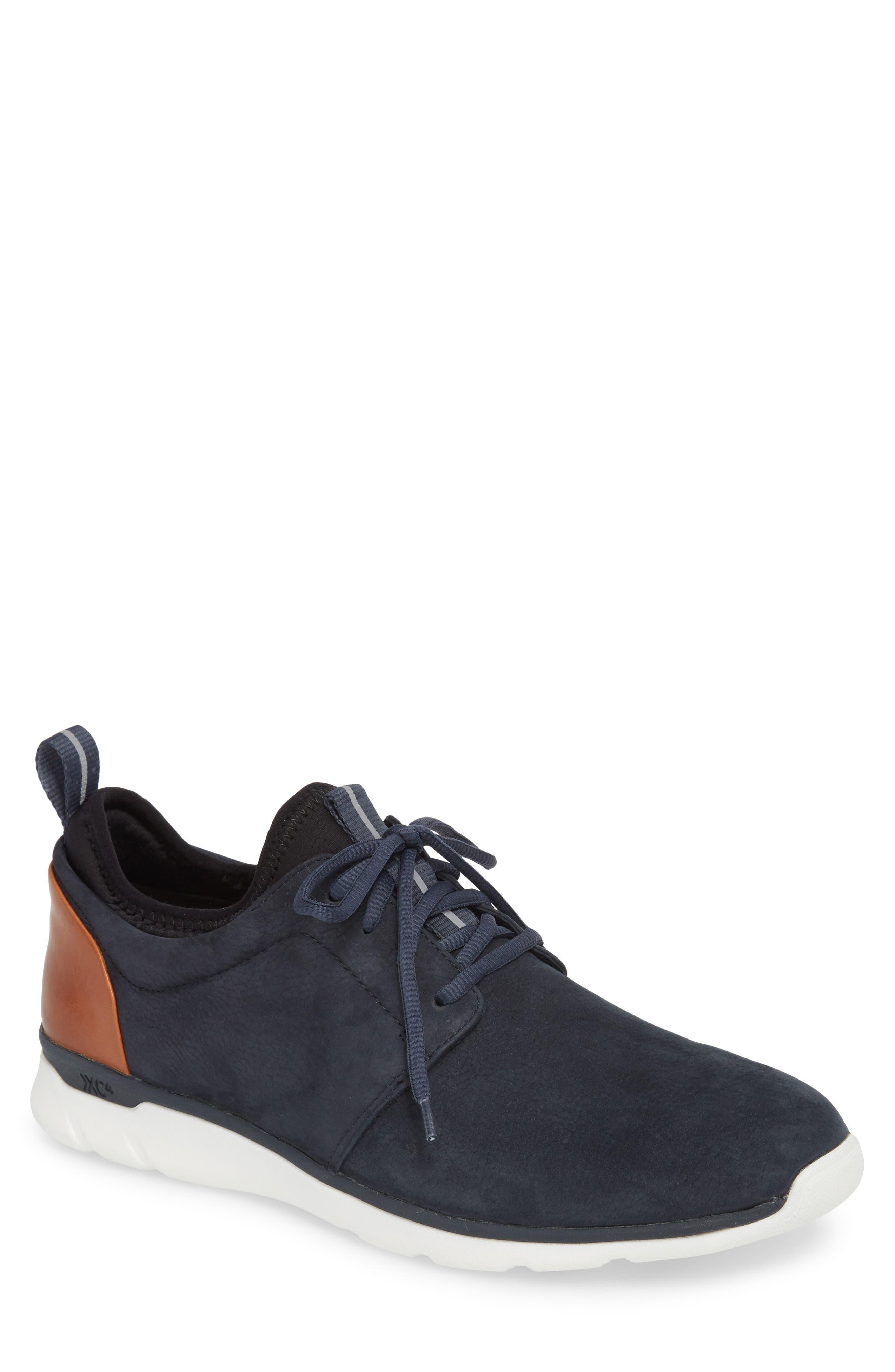 Prentiss XC4<sup>®</sup> Waterproof Low Top Sneaker,                             Main thumbnail 1, color,                             Navy Nubuck