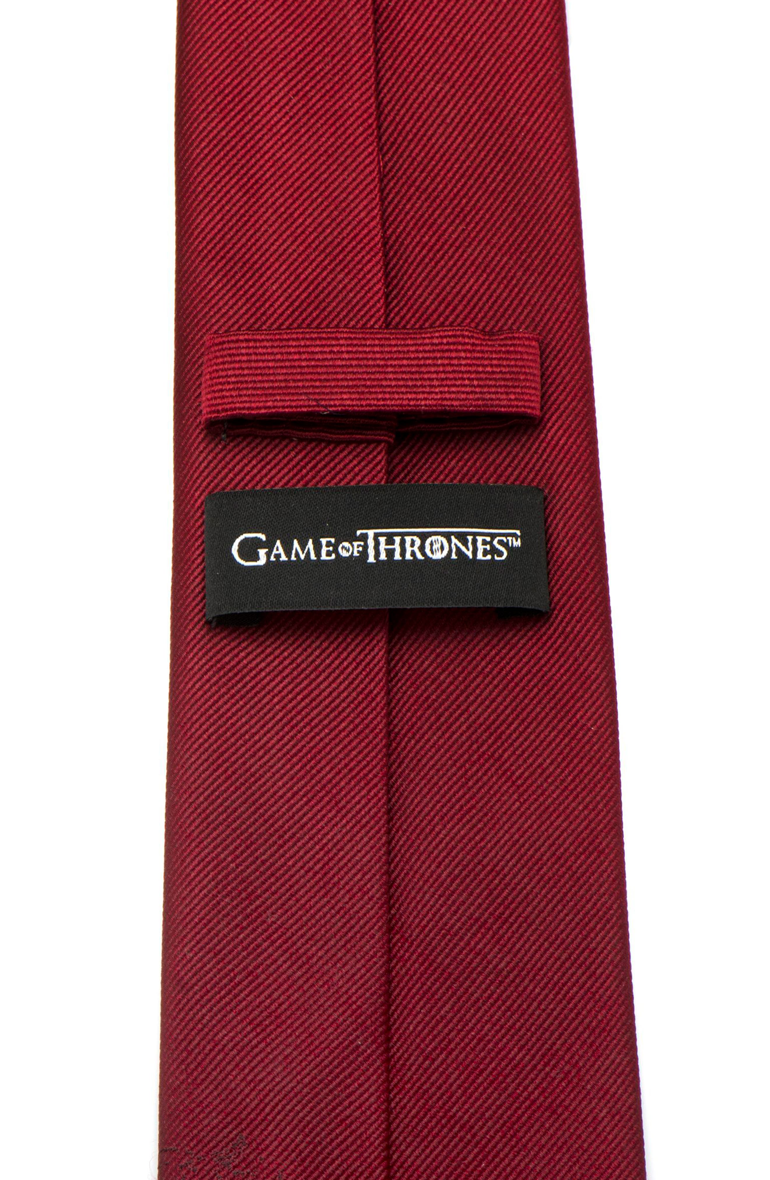 Game of Thrones Lannister Silk Tie,                             Alternate thumbnail 4, color,                             Red