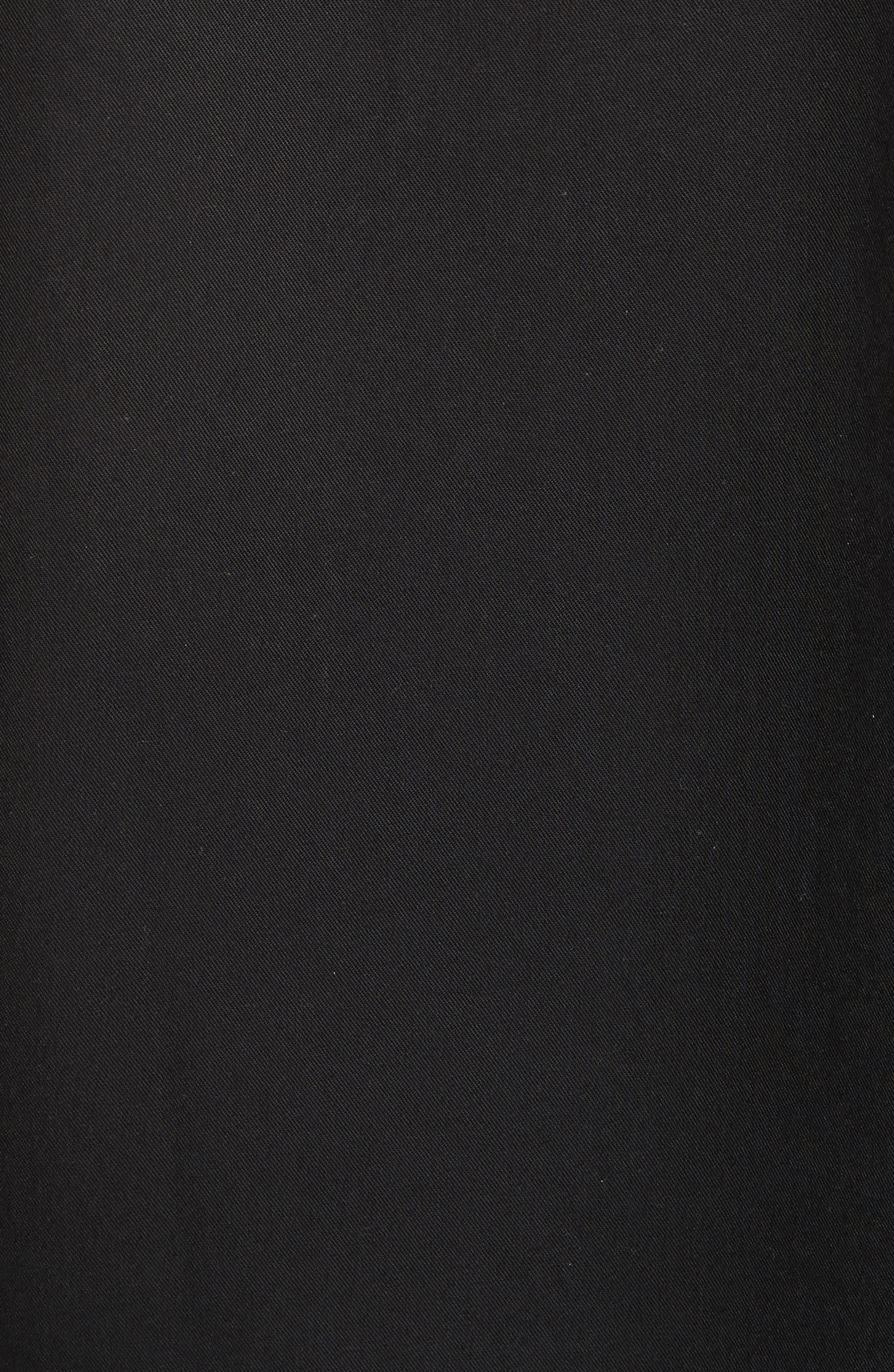 Zip Shirt Jacket,                             Alternate thumbnail 5, color,                             Black