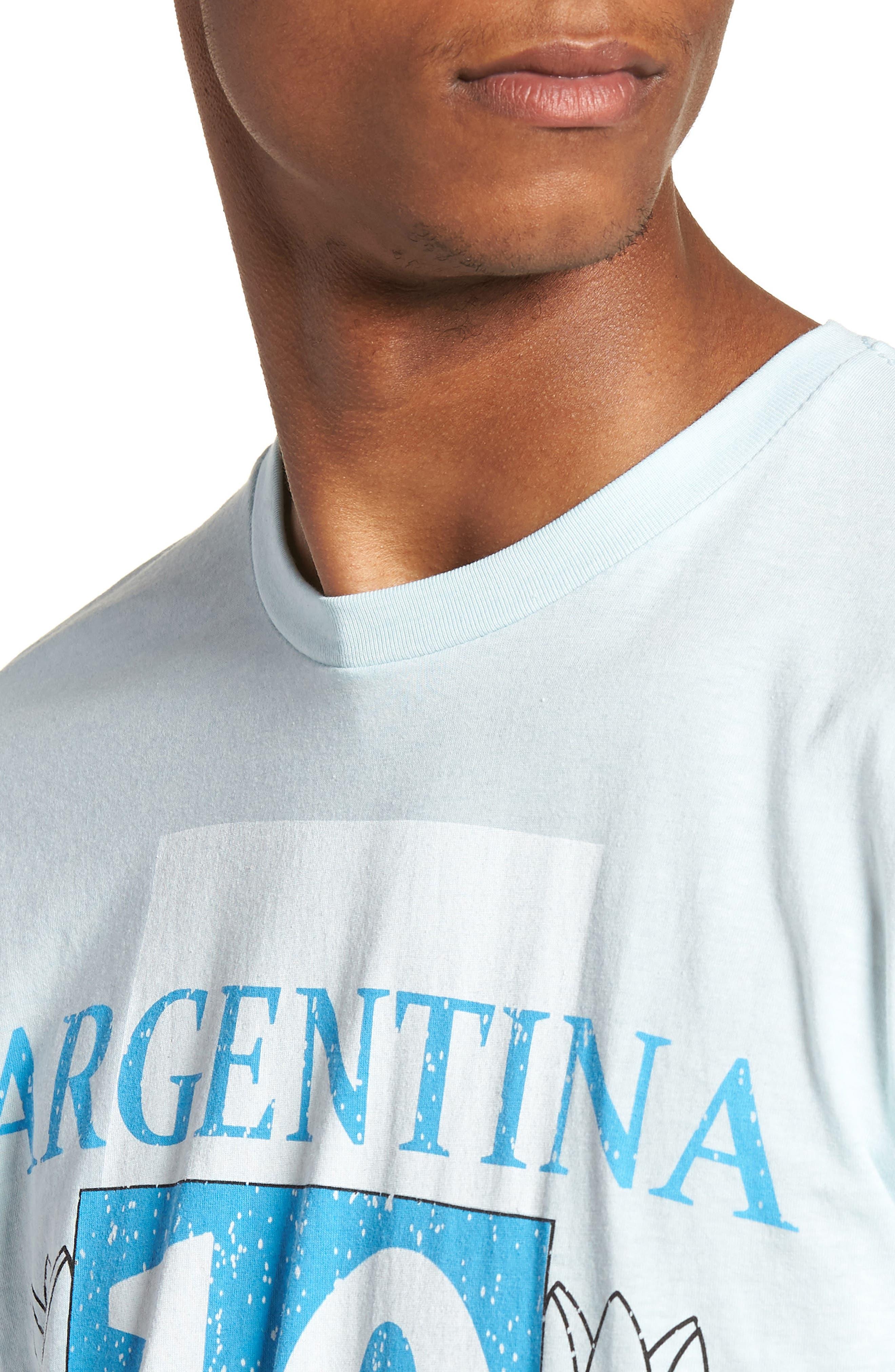 Kintetix Argentina T-Shirt,                             Alternate thumbnail 4, color,                             Sky Blue