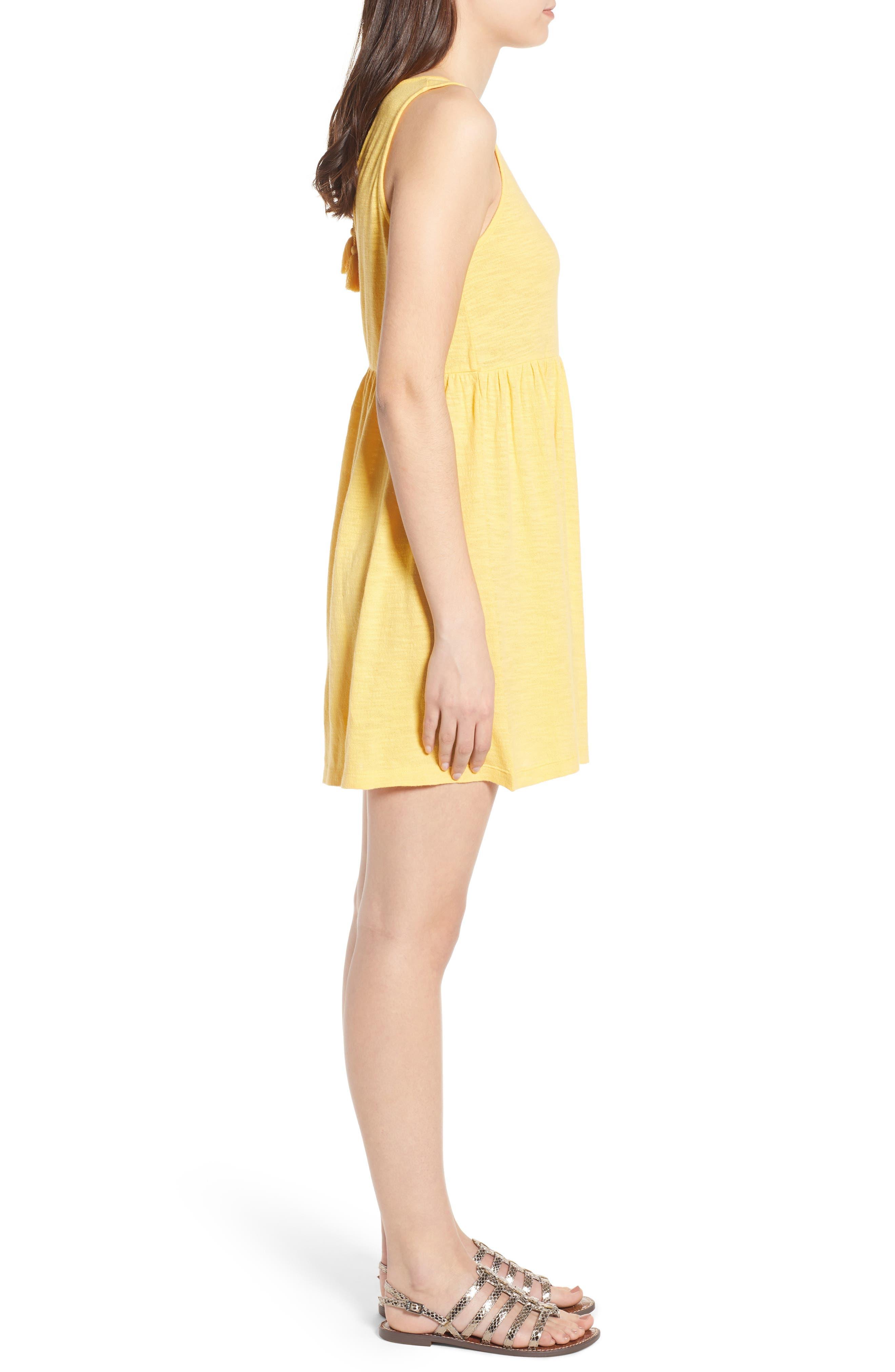 Tucson Cotton Dress,                             Alternate thumbnail 3, color,                             Buff Yellow
