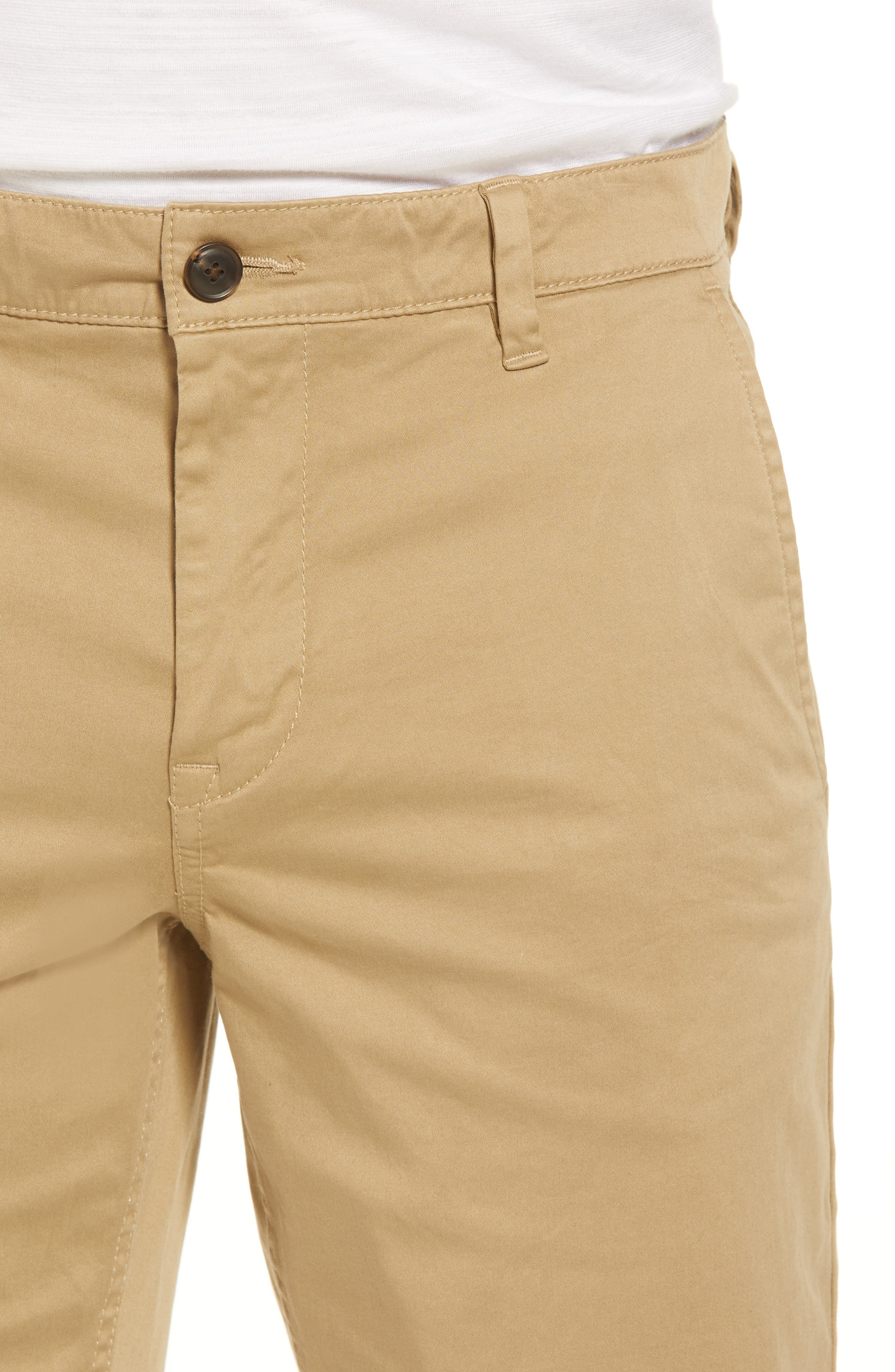 Slim Fit Shorts,                             Alternate thumbnail 4, color,                             Brown