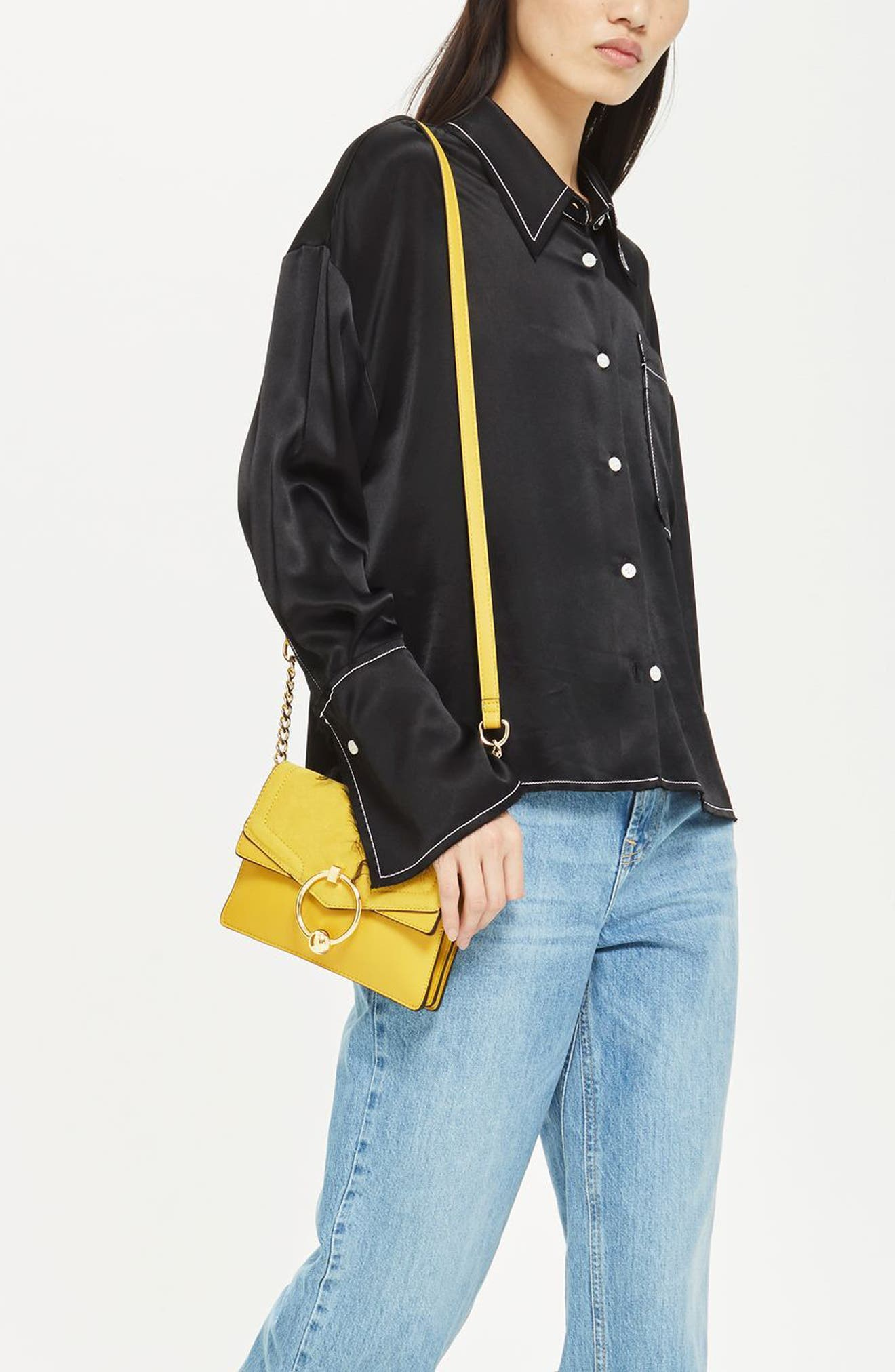 Seline Faux Leather Crossbody Bag,                             Alternate thumbnail 7, color,                             Yellow Multi