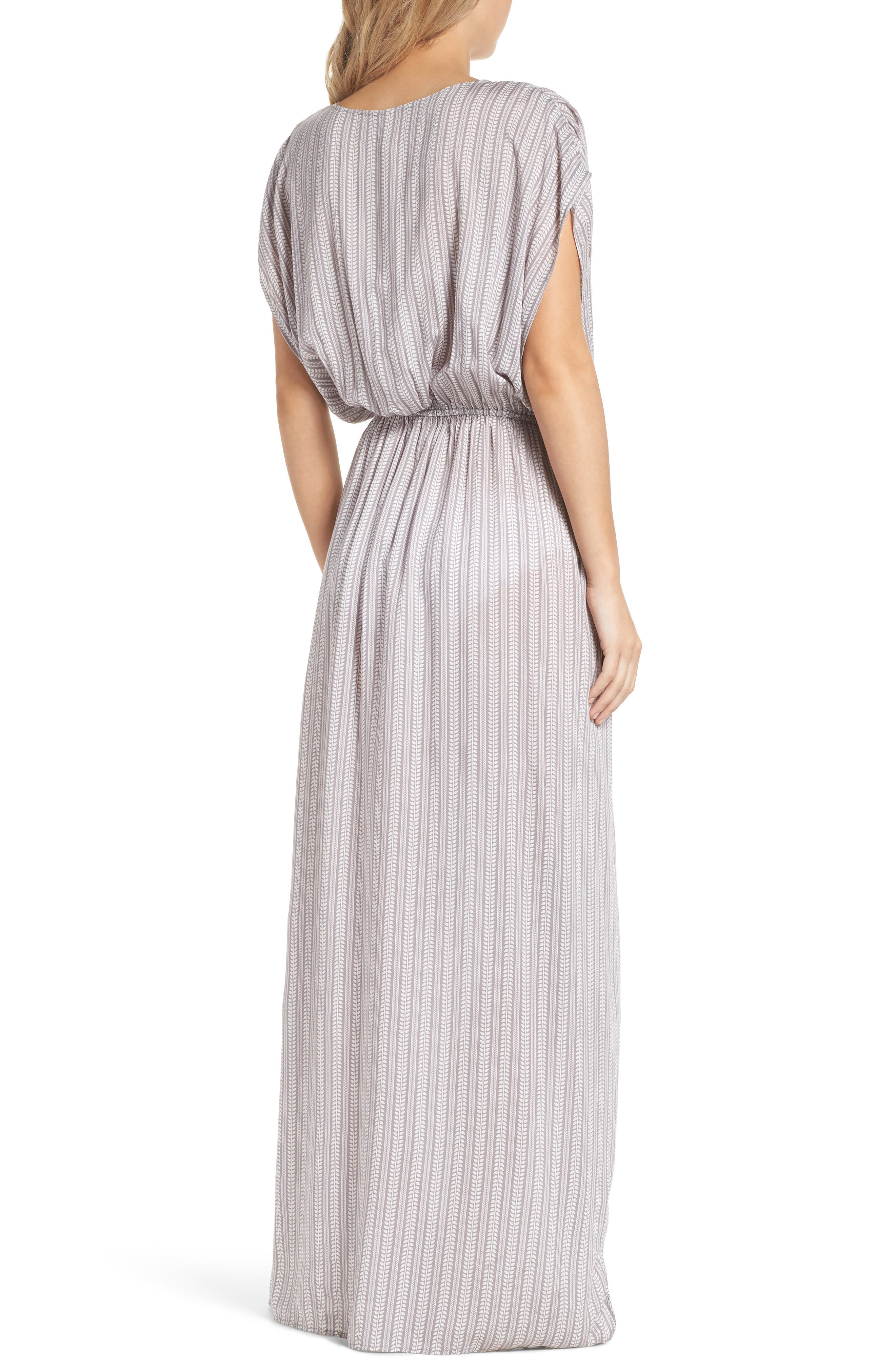 Wrap Maxi Cover-Up Dress,                             Alternate thumbnail 2, color,                             Makoto Grey
