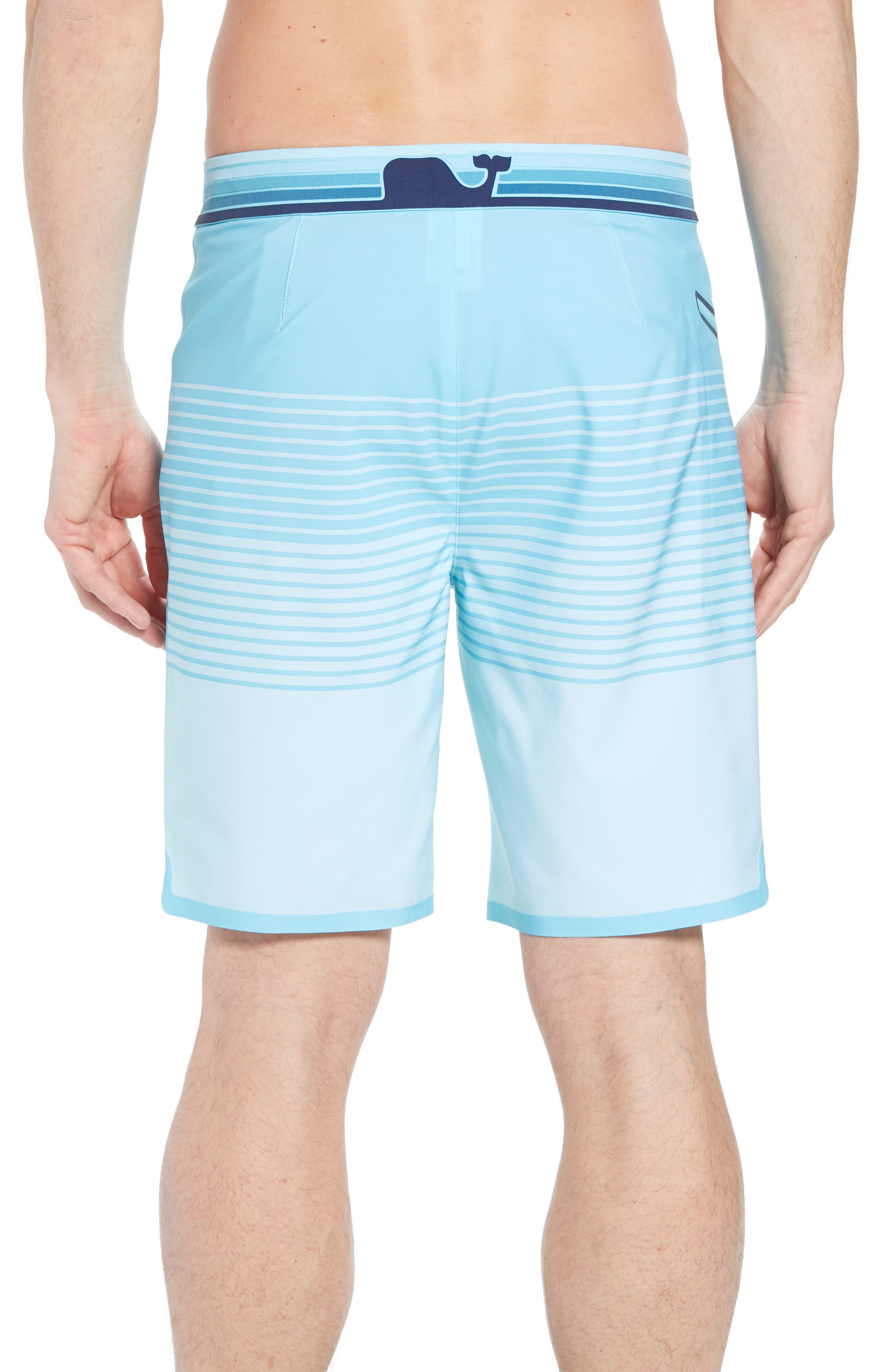 Sculplin Stripe Tech Board Shorts,                             Alternate thumbnail 2, color,                             Turquoise