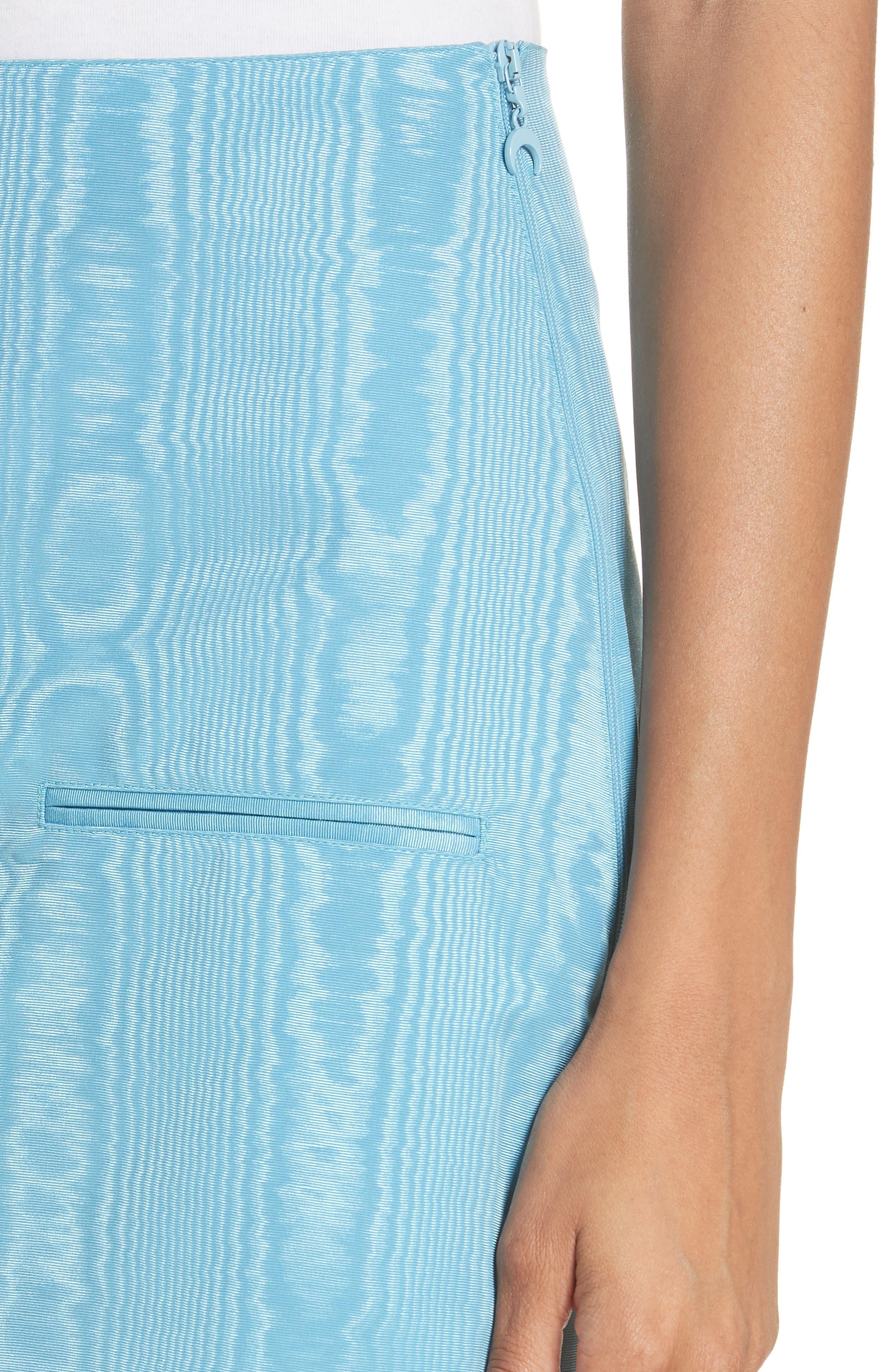 Moiré Miniskirt,                             Alternate thumbnail 4, color,                             Blue
