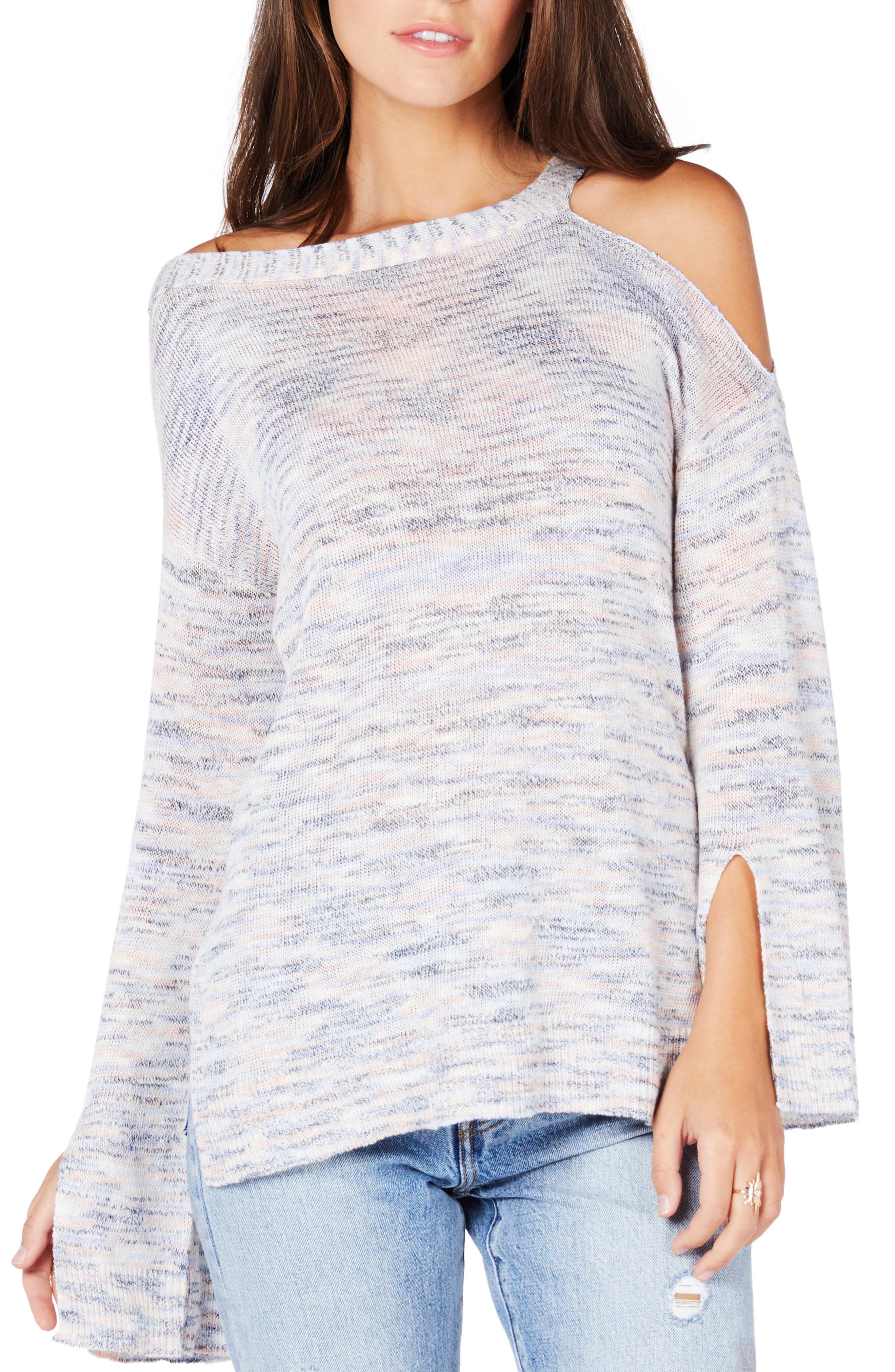 Michael Stars Cutout Shoulder Tunic Sweater