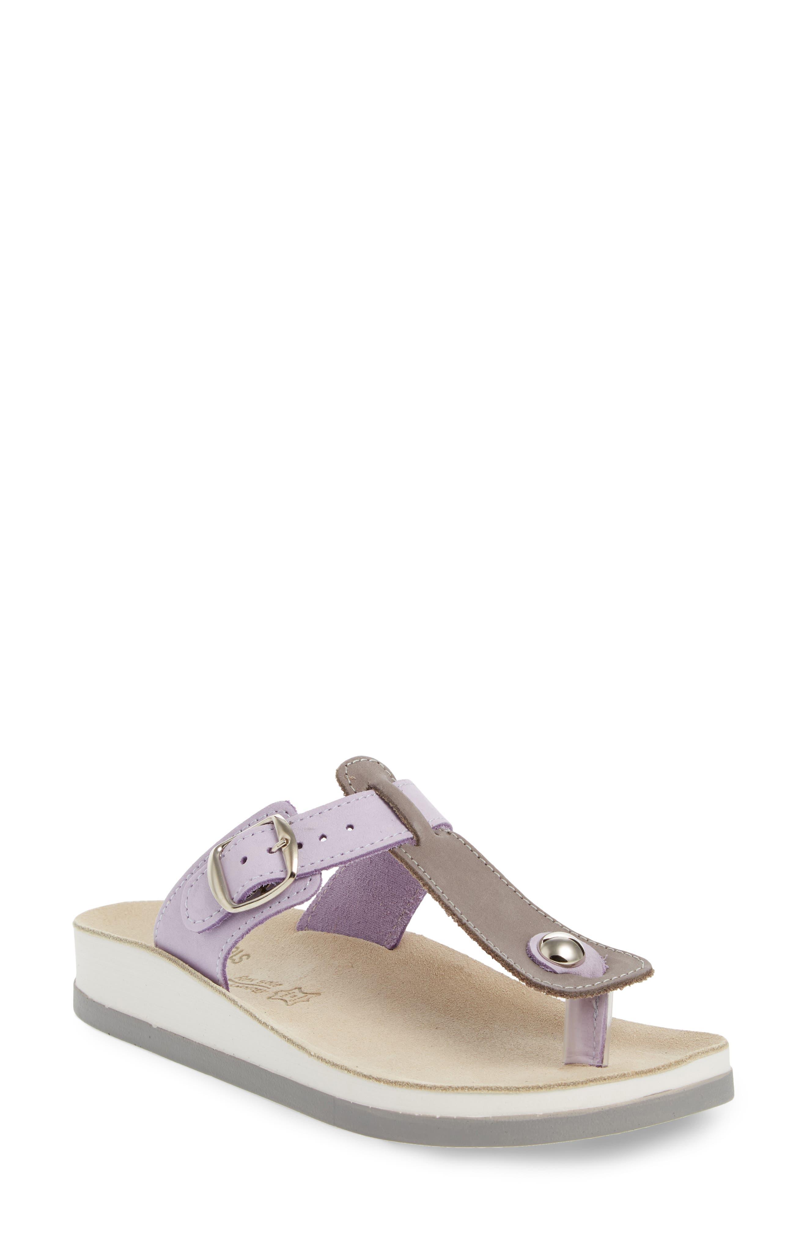 Viola Sandal,                         Main,                         color, Lila Grey Leather