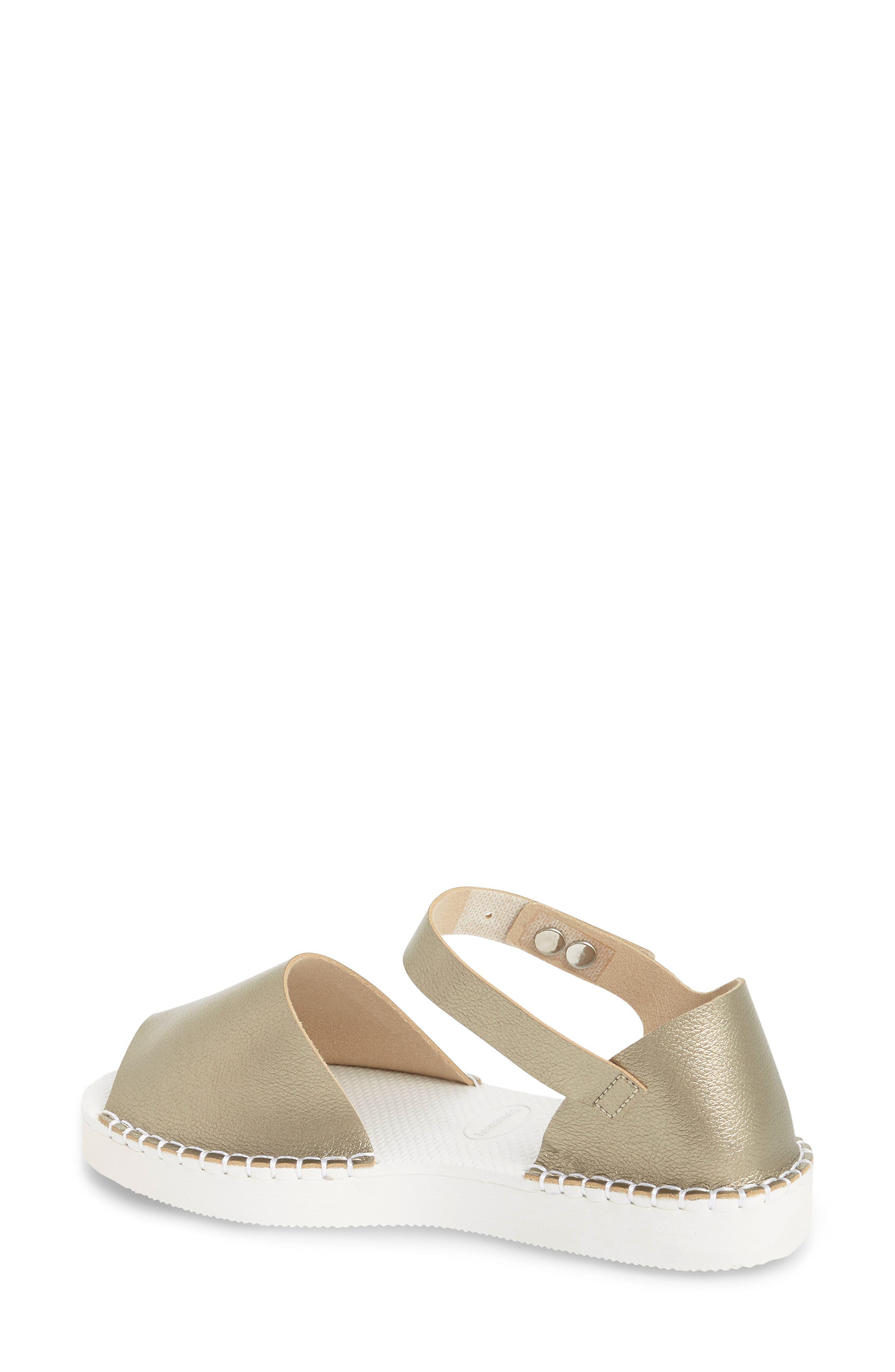 Flatform Fashion Sandal,                             Alternate thumbnail 2, color,                             Golden
